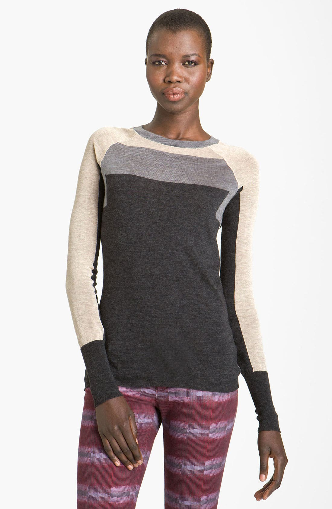 Alternate Image 1 Selected - See by Chloé Colorblock Crewneck Sweater