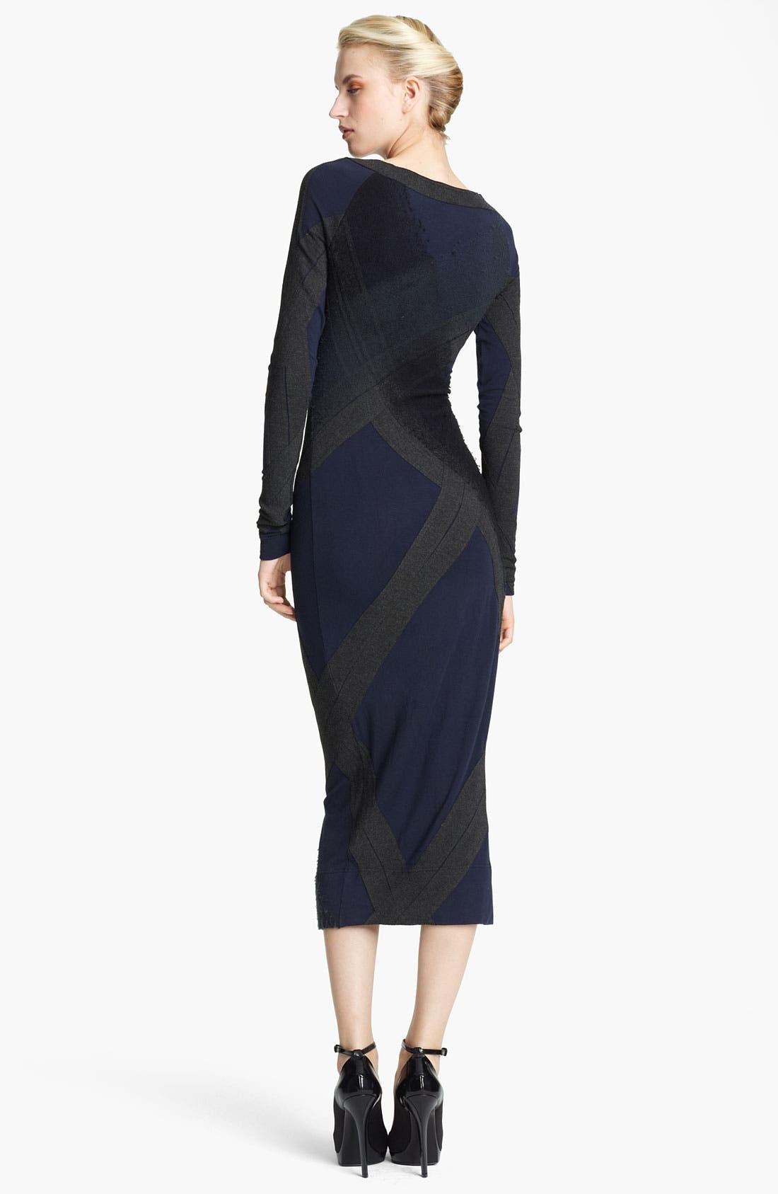 Alternate Image 2  - Donna Karan Collection Needle Punch Jersey Dress