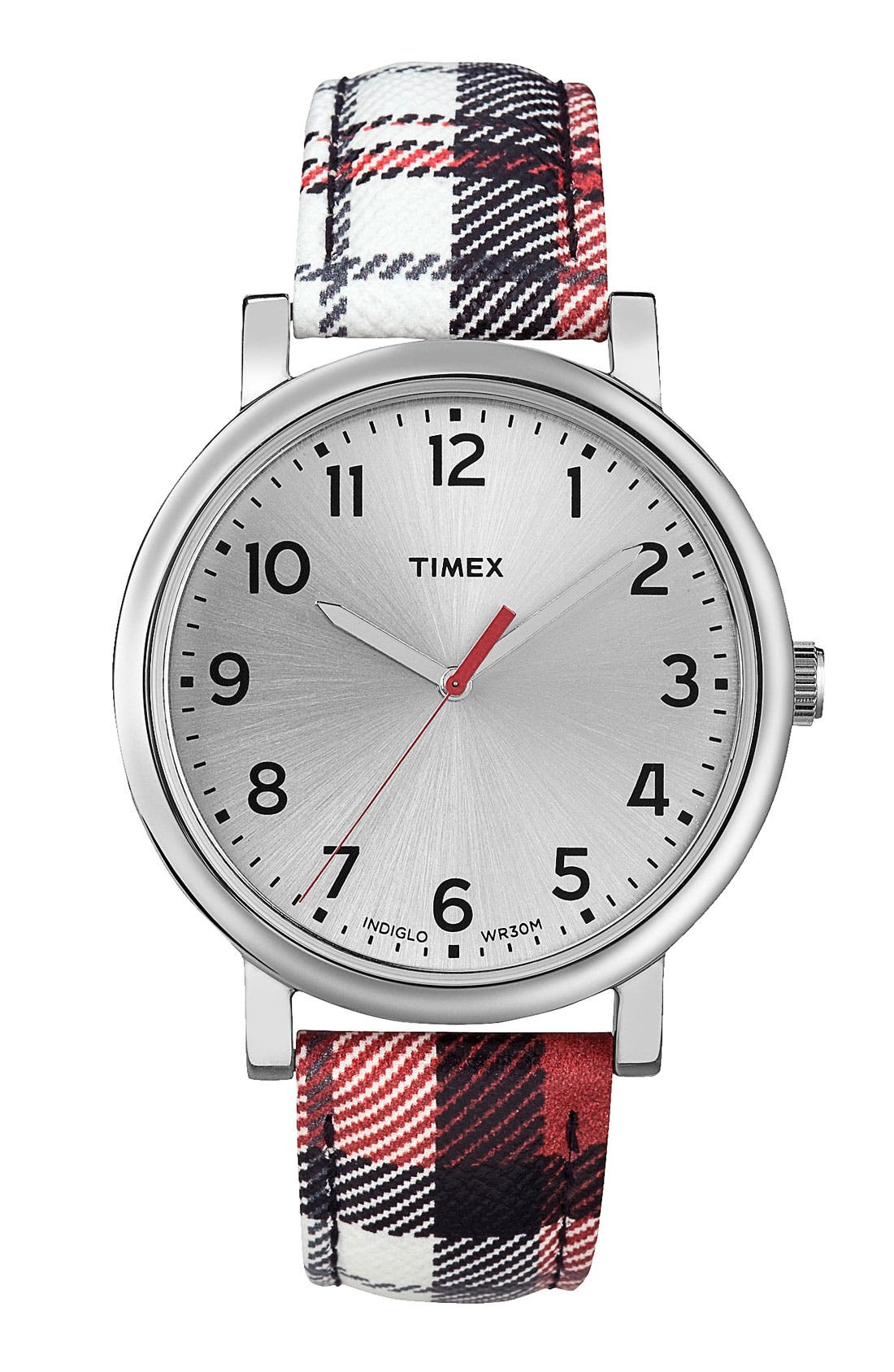 Main Image - Timex® 'Easy Reader' Leather Strap Watch