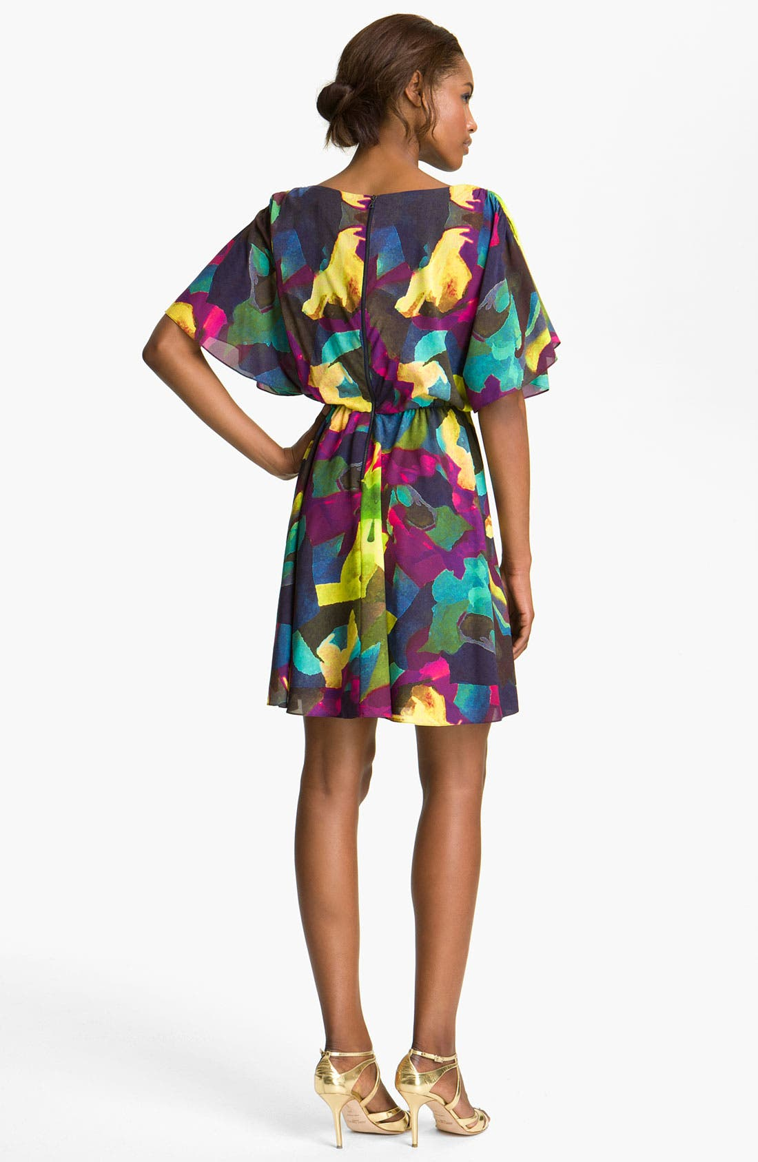 Alternate Image 2  - Alice + Olivia 'Kyra' Print Silk Dress