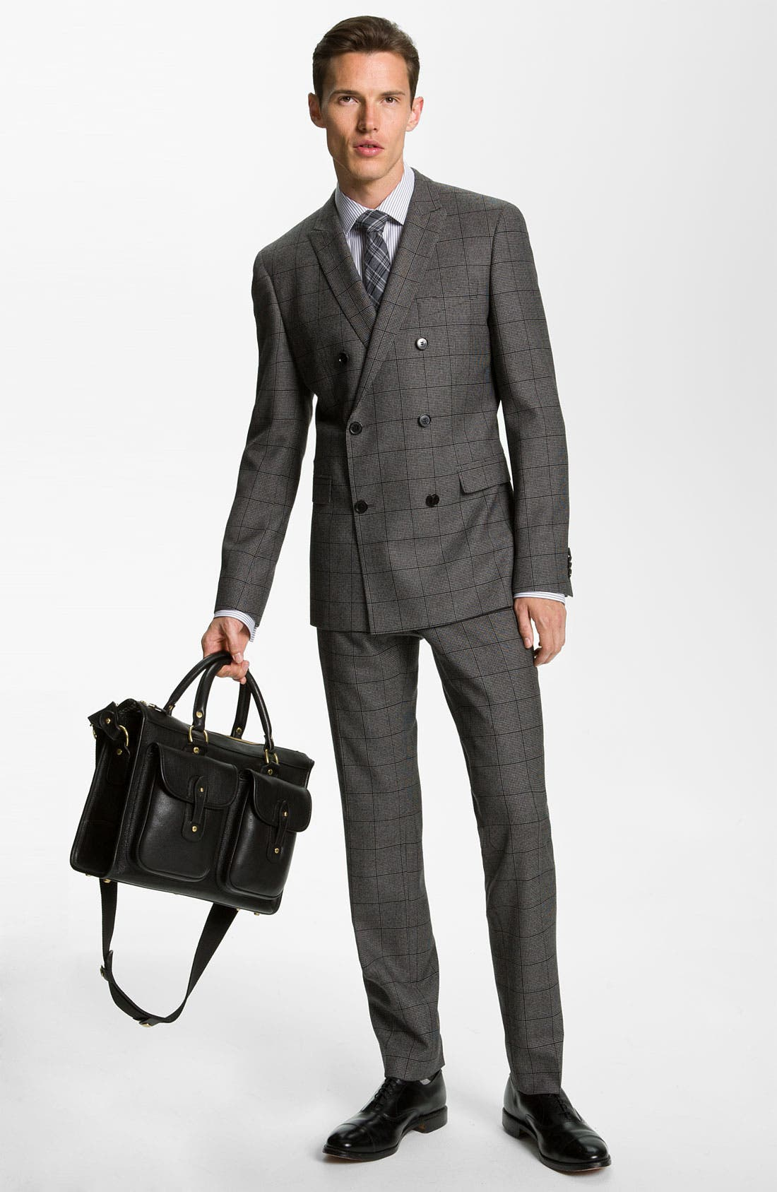 Alternate Image 2  - BOSS Black Extra Trim Fit Double Breasted Suit