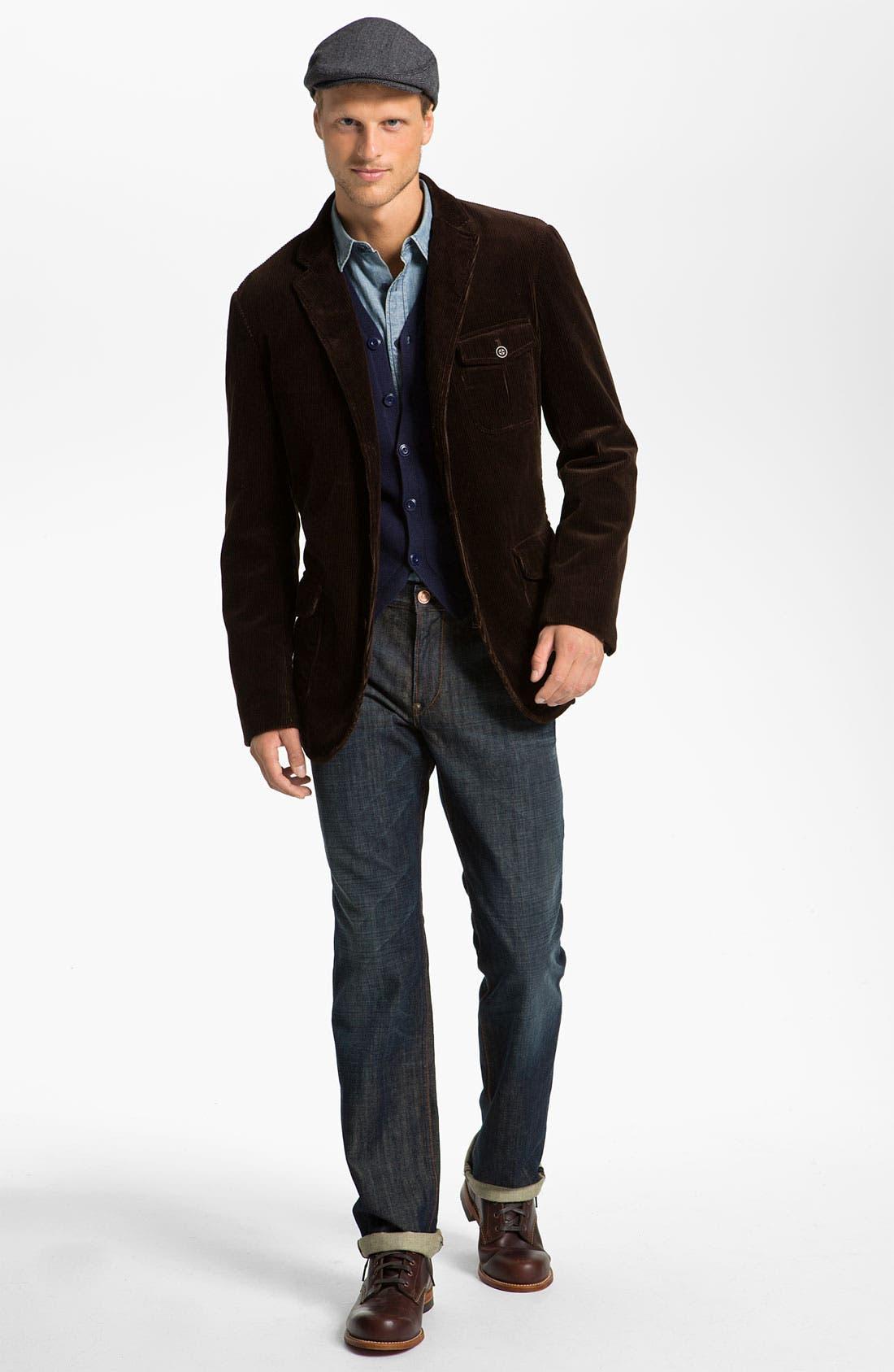 Alternate Image 5  - Earnest Sewn 'Dexter' Relaxed Straight Leg Jeans (Maz Dark)