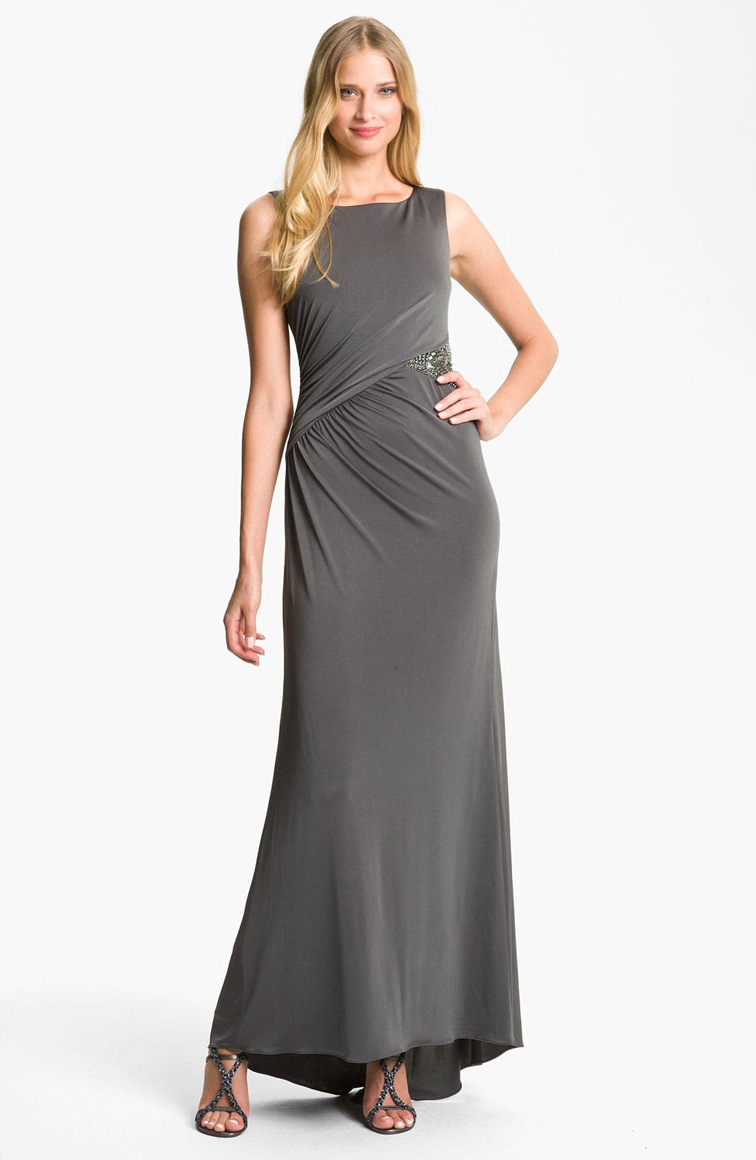 Alternate Image 1 Selected - JS Boutique Embellished Jersey Gown