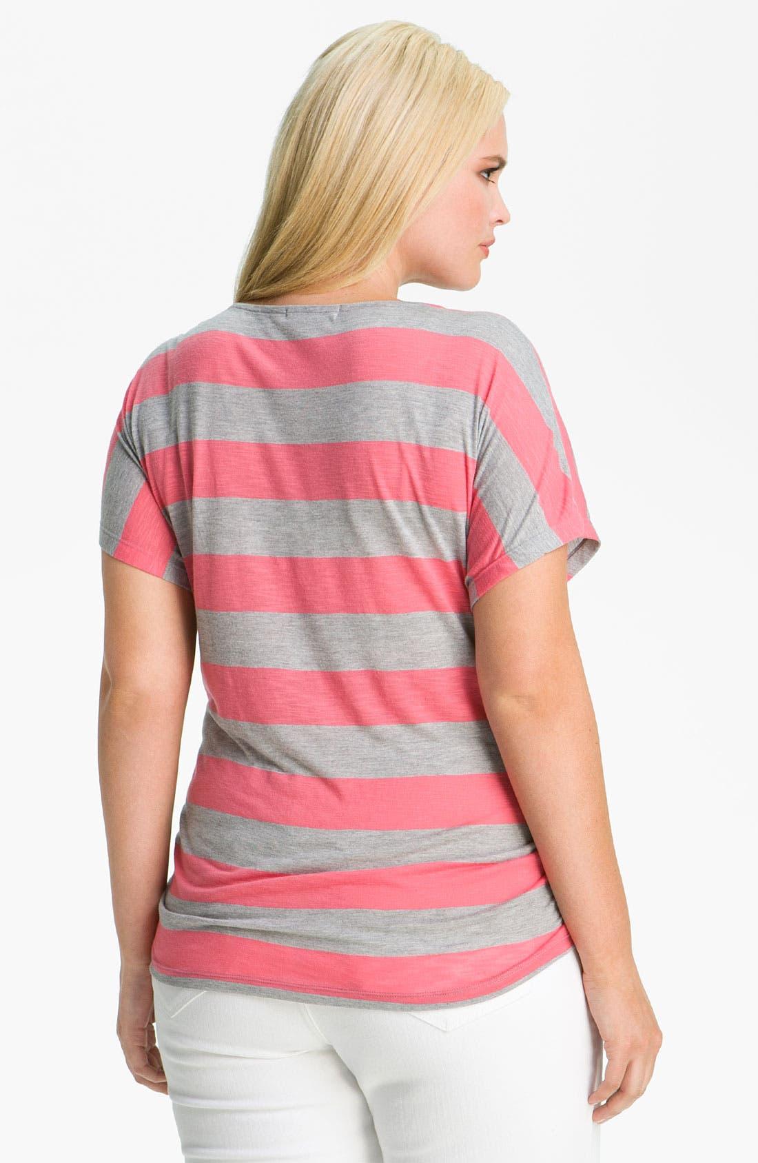 Alternate Image 2  - Olivia Moon Stripe Tee (Plus)