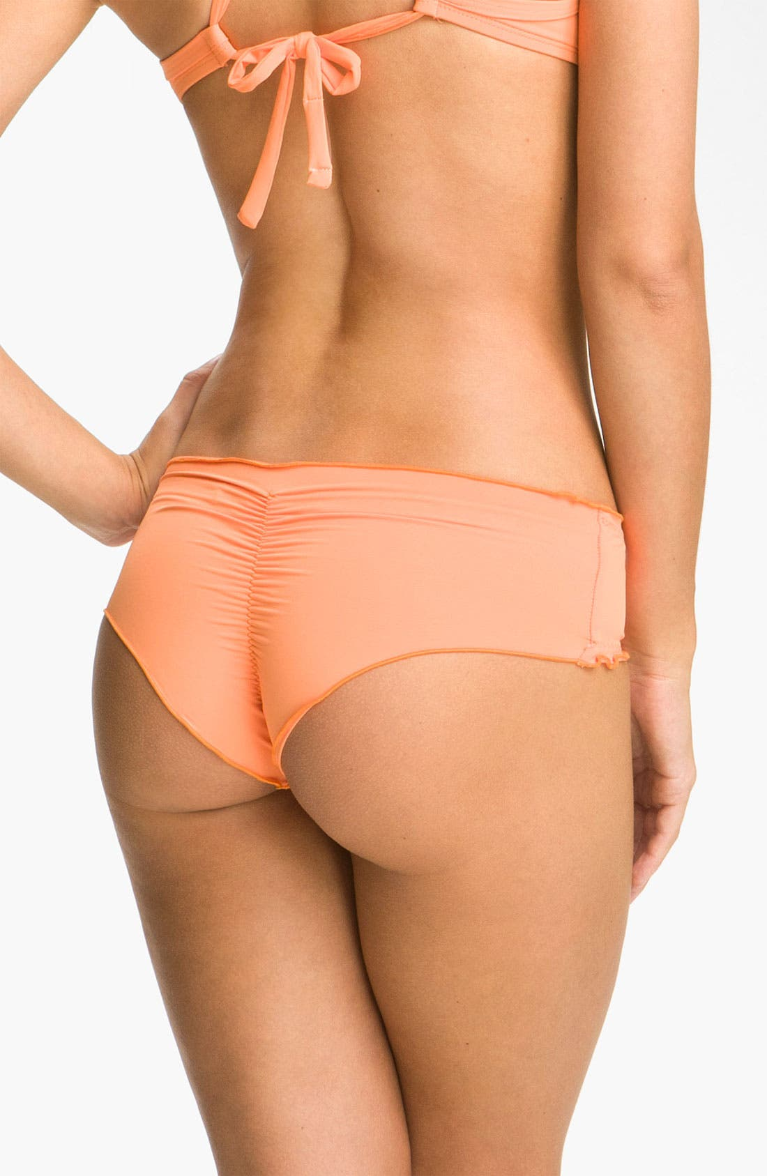 Alternate Image 2  - Vitamin A® 'Rio' Ruffled Low Rise Bikini Bottoms