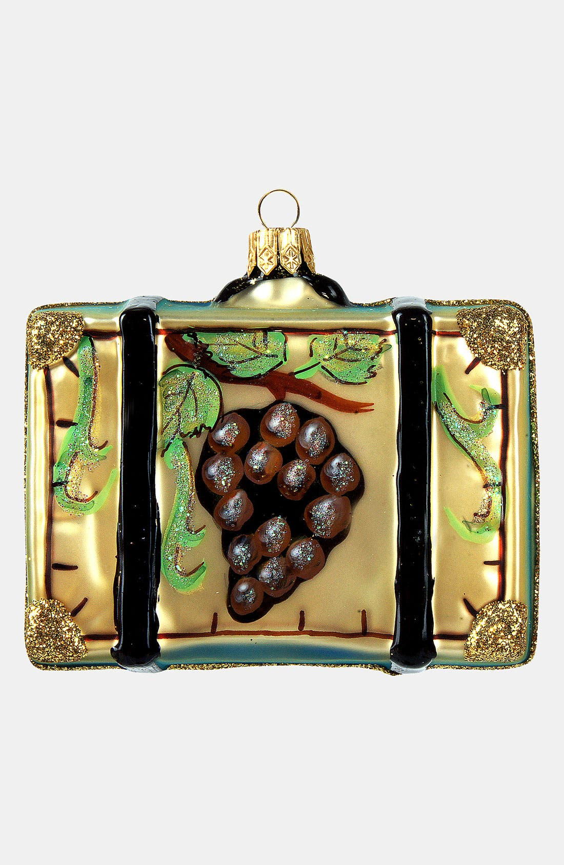 Alternate Image 2  - Nordstrom at Home 'Napa Valley' Glass Suitcase Ornament