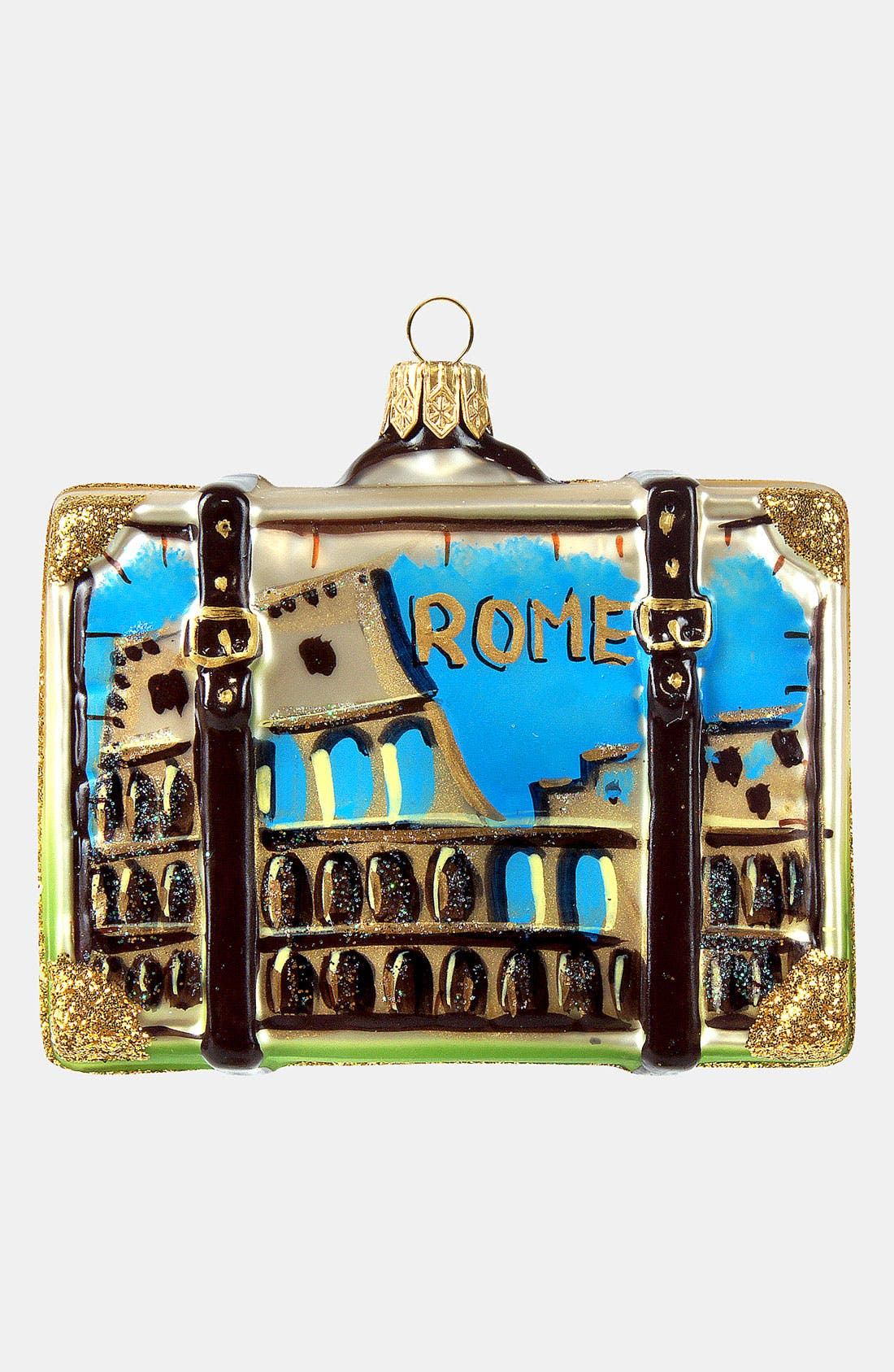 Main Image - Nordstrom at Home 'Rome' Glass Suitcase Ornament