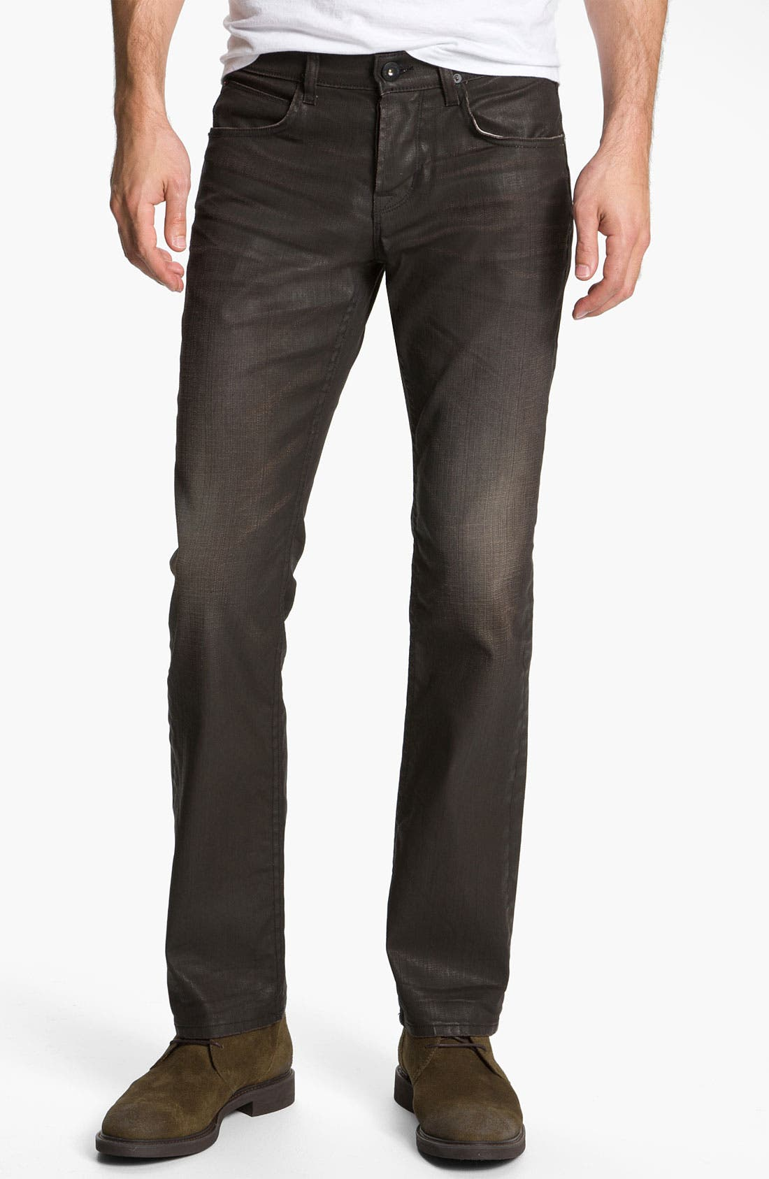 Alternate Image 2  - Hudson Jeans 'Byron' Coated Straight Leg Jeans (Tomahawk)