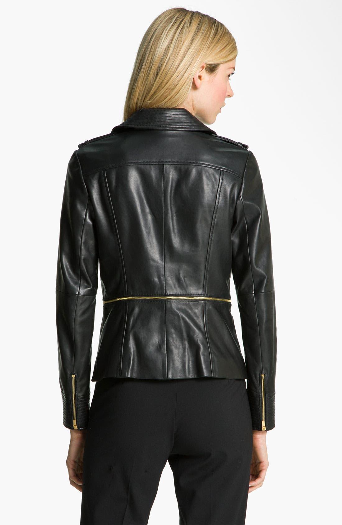 Alternate Image 2  - Classiques Entier® 'Brenna' Leather Jacket
