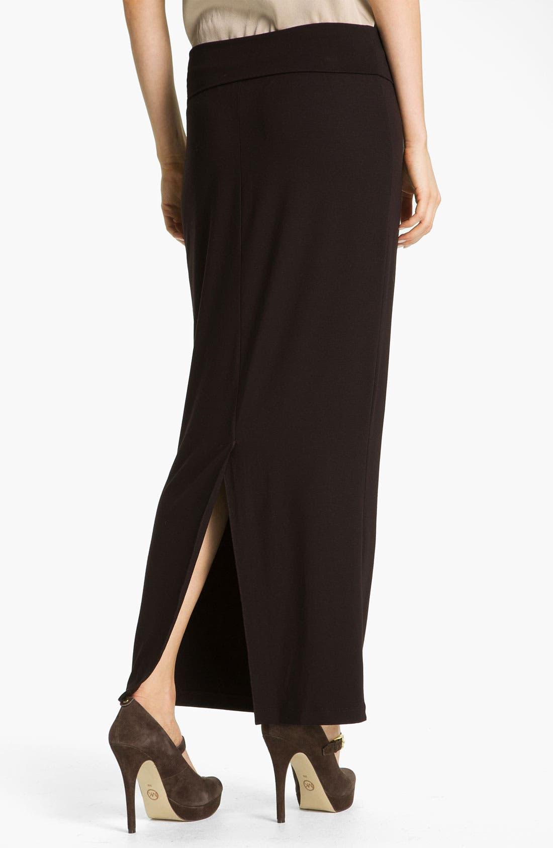 Alternate Image 2  - Eileen Fisher Fold Over Slim Maxi Skirt