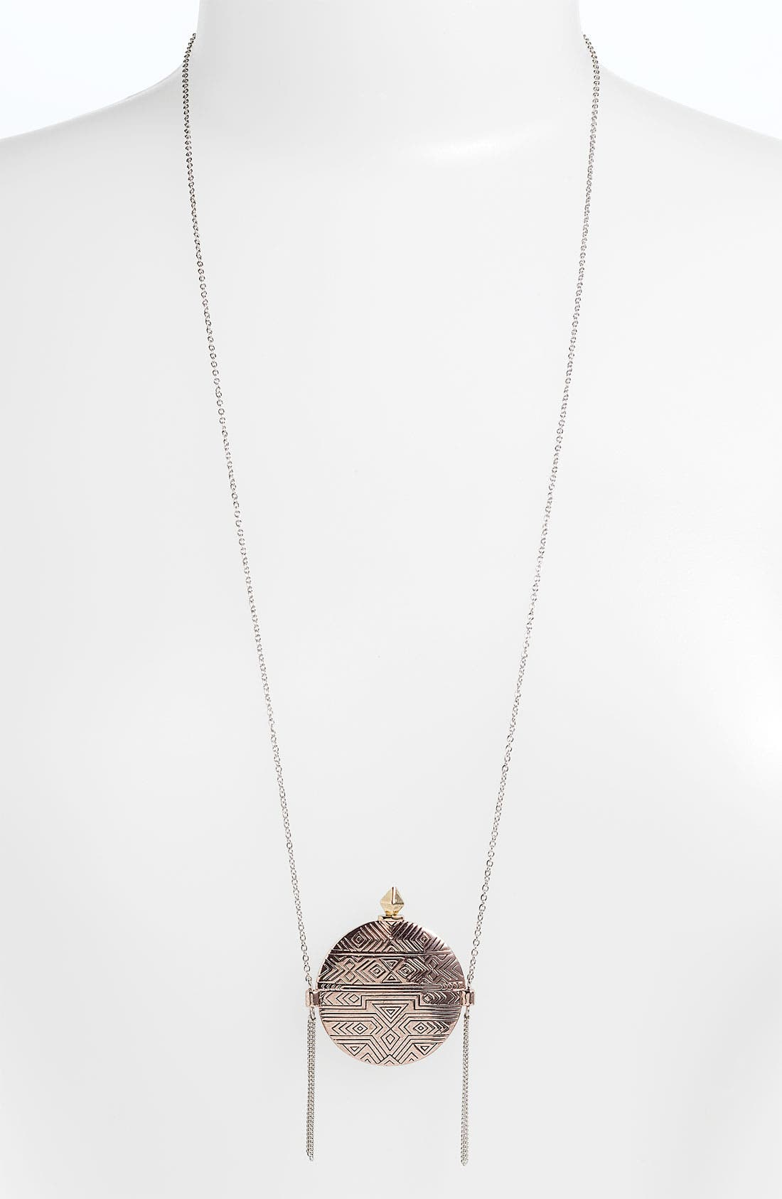 Alternate Image 1 Selected - House of Harlow 1960 Engraved Medallion Necklace