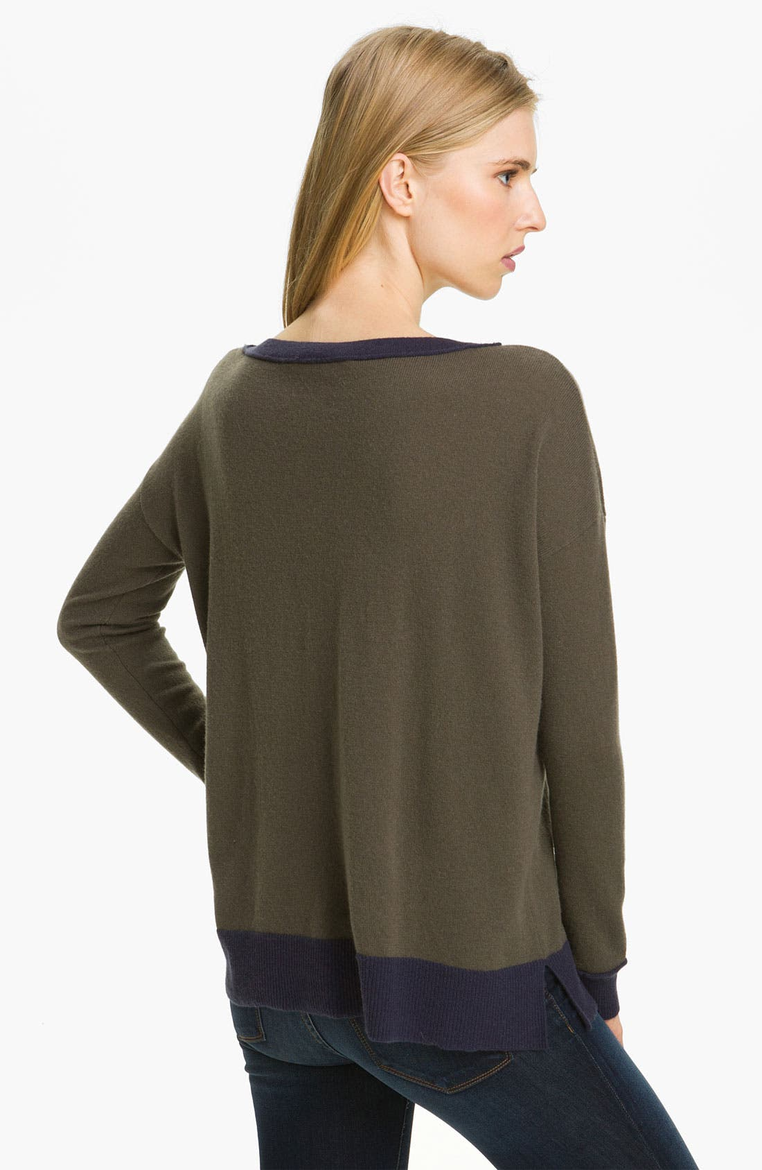 Alternate Image 2  - autumn cashmere Colorblock Cashmere Knit Tunic