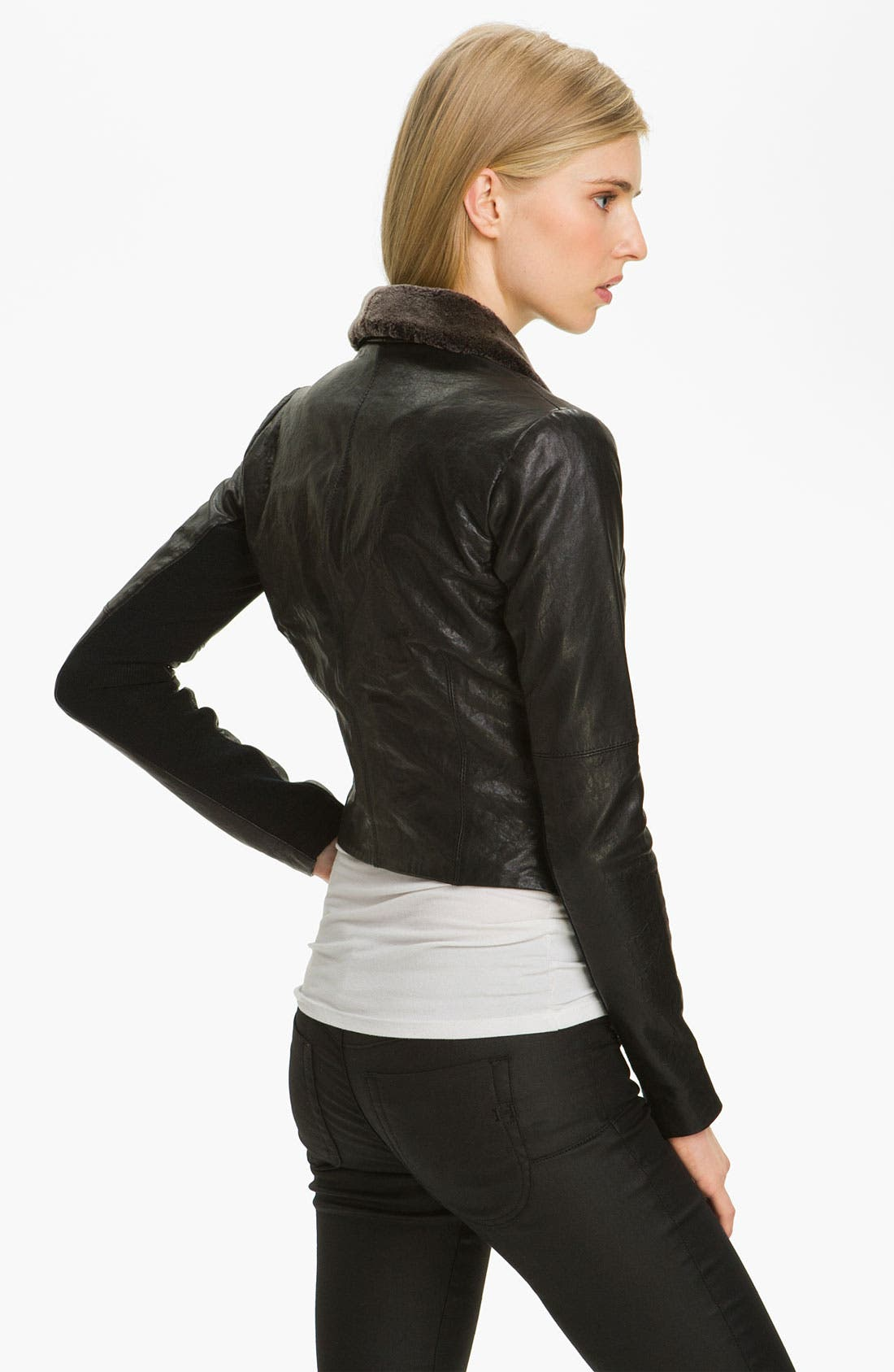Alternate Image 2  - Veda 'Dom' Shearling Shawl Collar Jacket