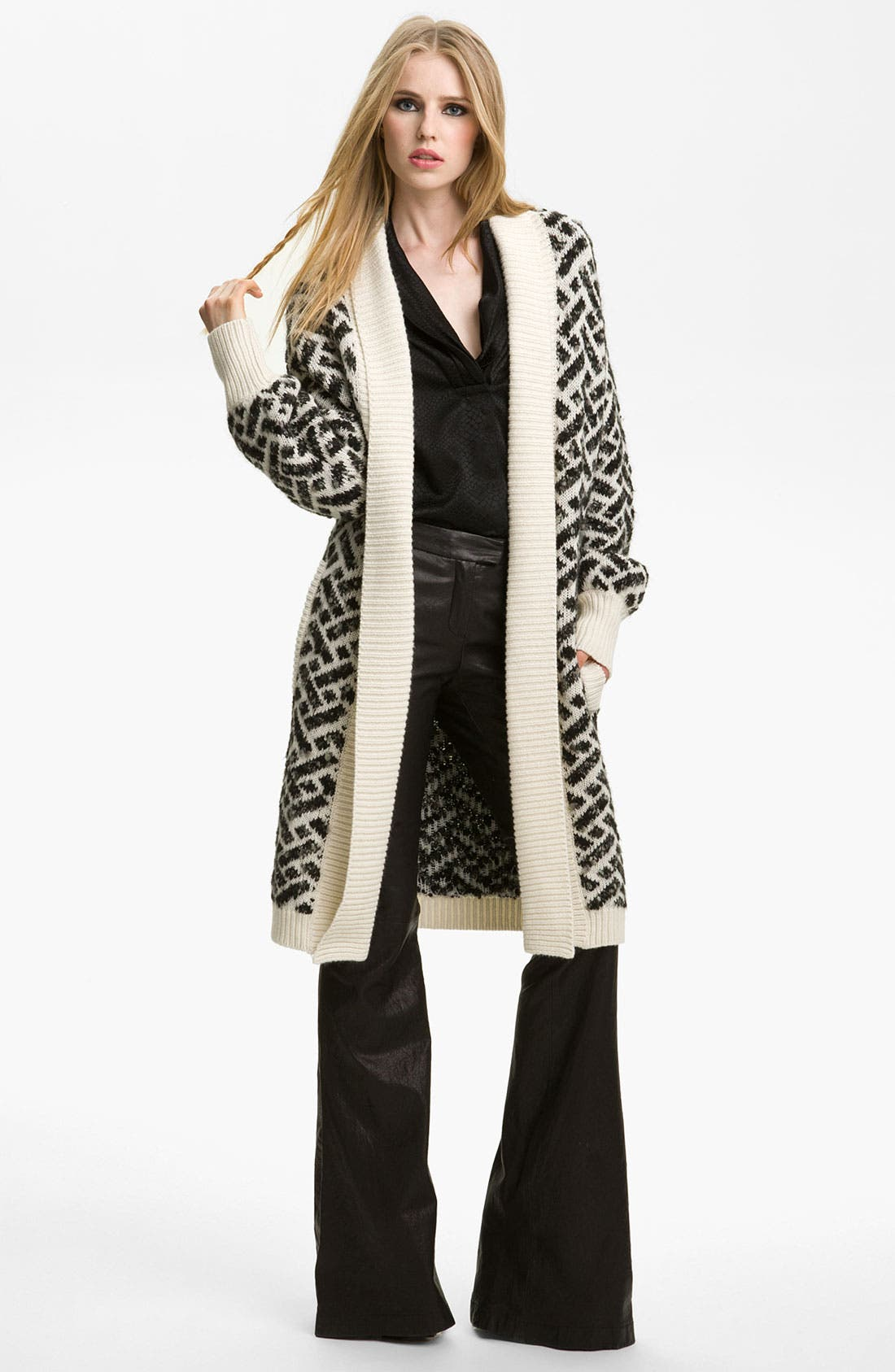 Alternate Image 1 Selected - Rachel Zoe 'Nikki' Jacquard Cardigan