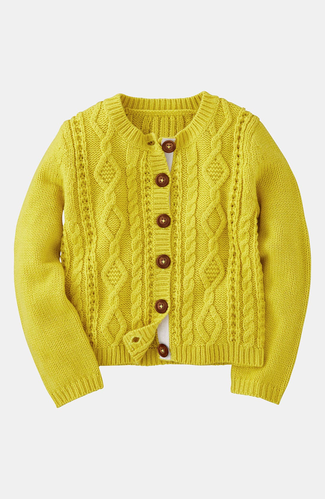 Main Image - Mini Boden 'Cozy' Cable Cardigan (Little Girls & Big Girls)