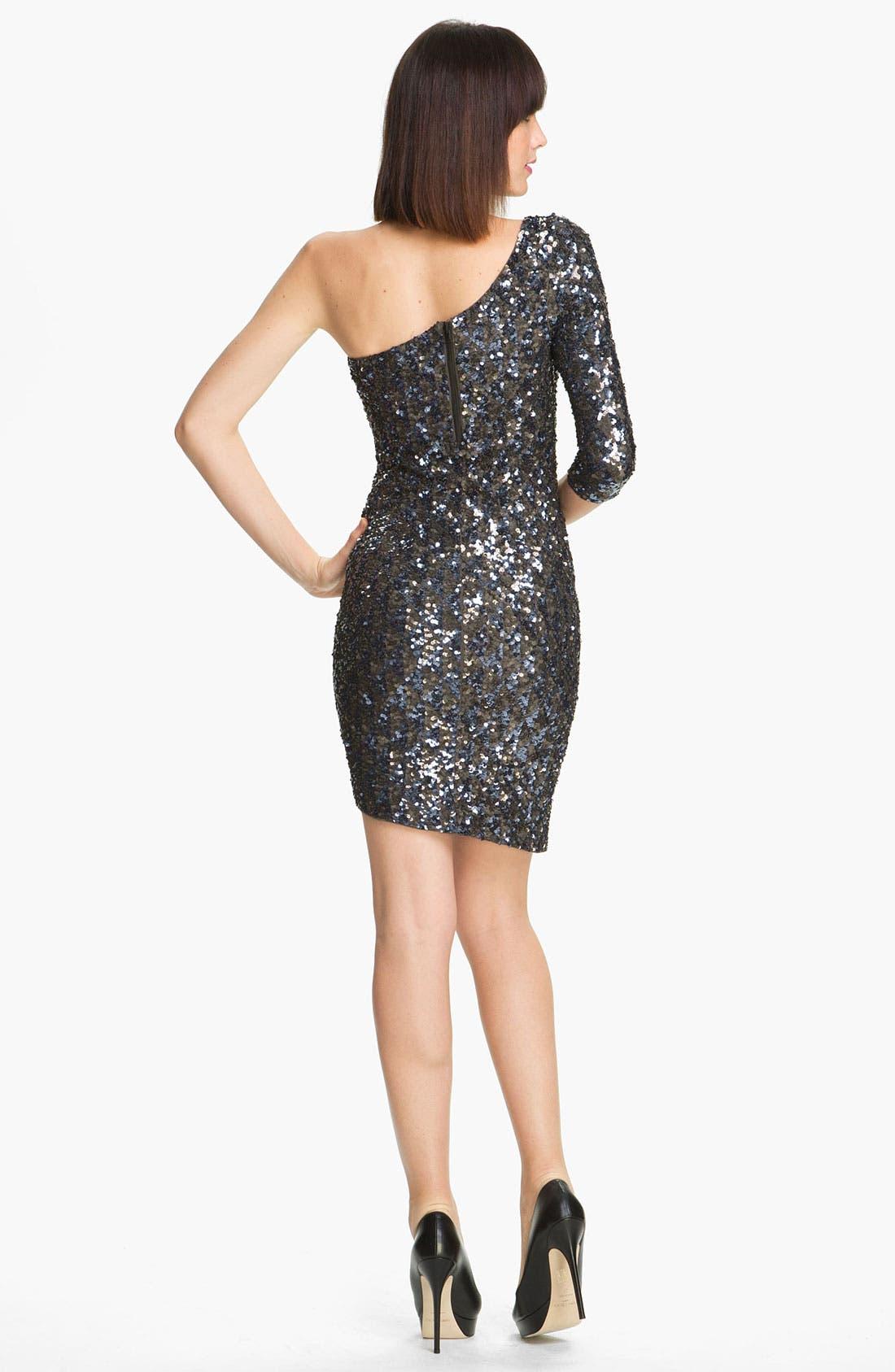 Alternate Image 2  - Alice + Olivia 'Nicky' One Shoulder Sequin Dress