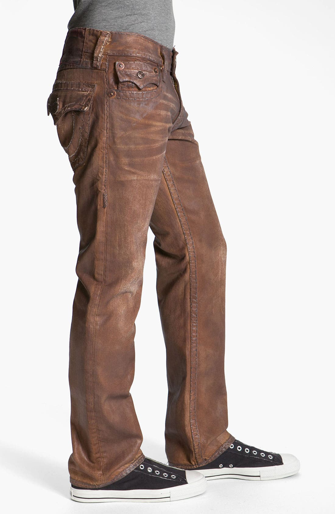 Alternate Image 3  - True Religion Brand Jeans 'Ricky - Natural Super T' Straight Leg Jeans (Brown) (Save Now through 12/9)