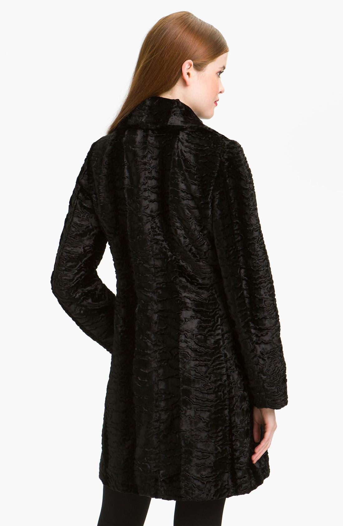 Alternate Image 2  - Gallery Faux Persian Lamb Fur Coat