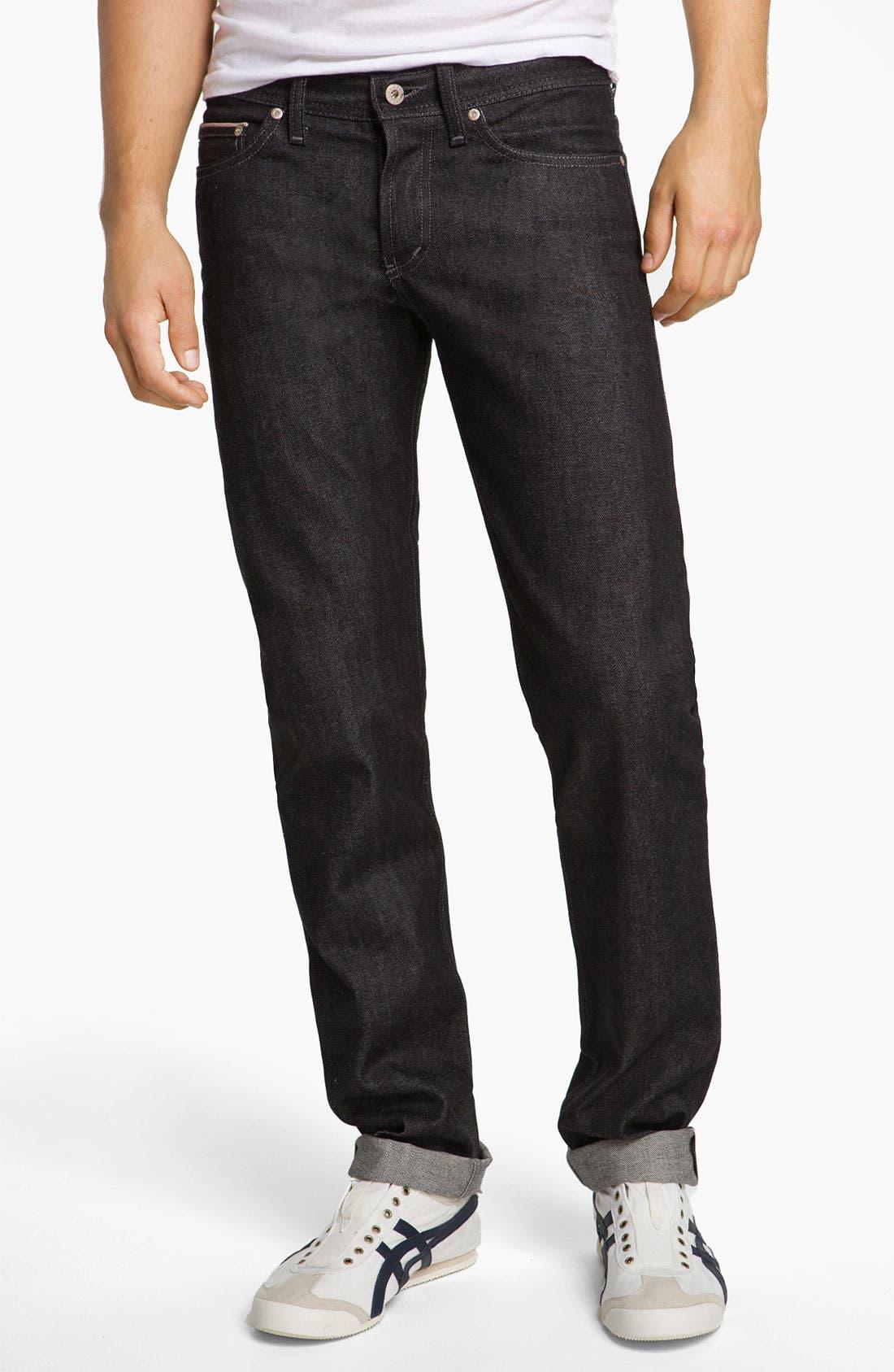 Alternate Image 2  - Naked & Famous Denim 'Weird Guy' Slim Fit Selvedge Jeans (Black)