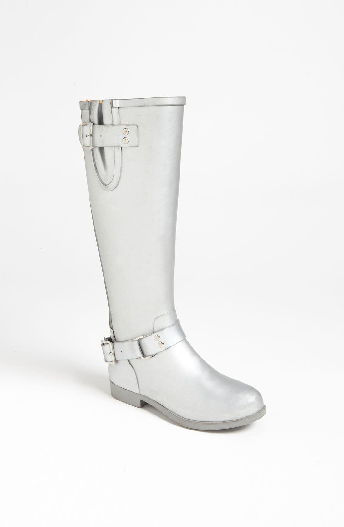 Alternate Image 1 Selected - Steve Madden 'Tsunamii' Contrast Zip Rain Boot (Women)