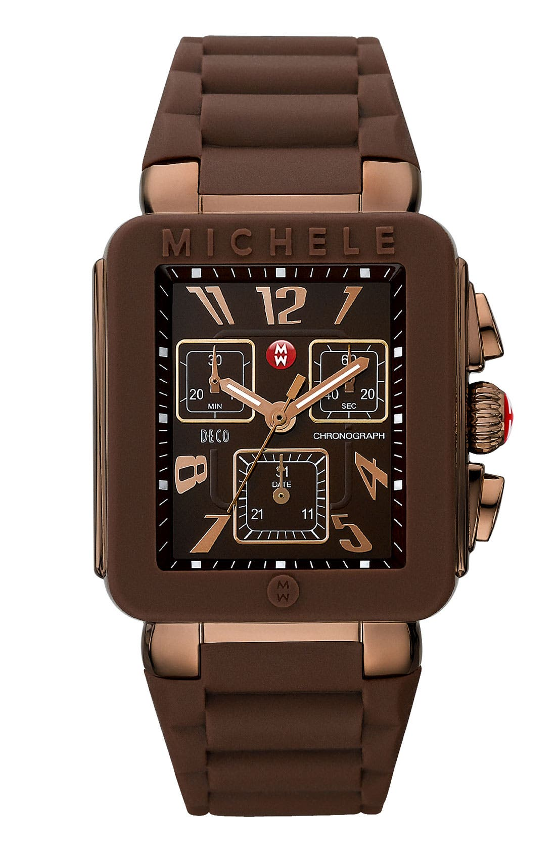 Alternate Image 1 Selected - MICHELE 'Park Jelly Bean' Brown Dial Watch
