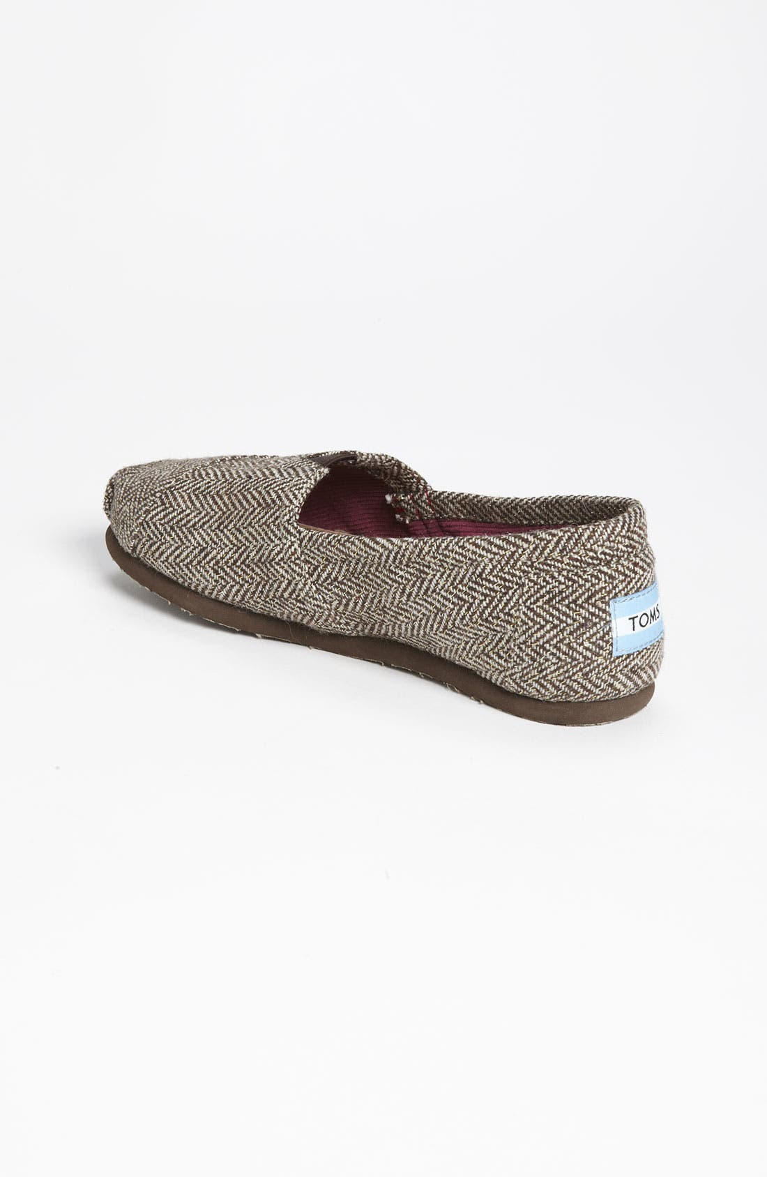 Alternate Image 2  - TOMS 'Classic' Metallic Herringbone Slip-On (Women)