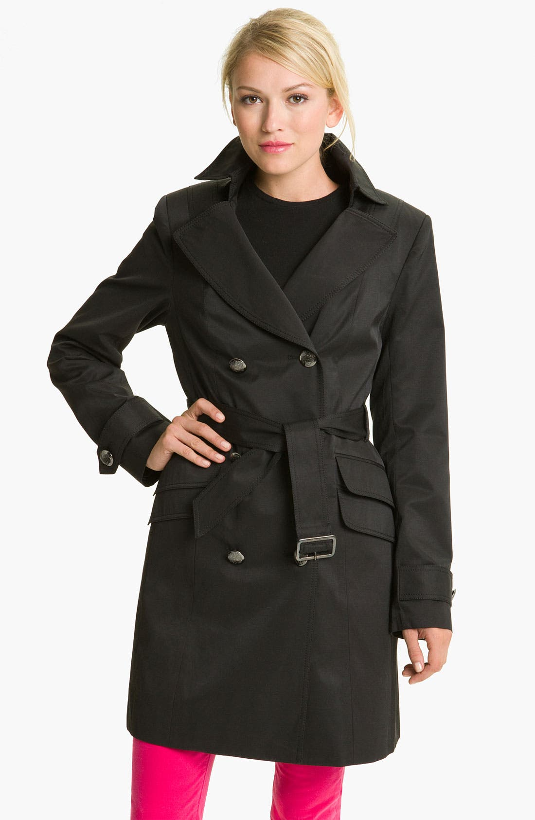 Alternate Image 1 Selected - Vince Camuto Double Pocket Belted Trench
