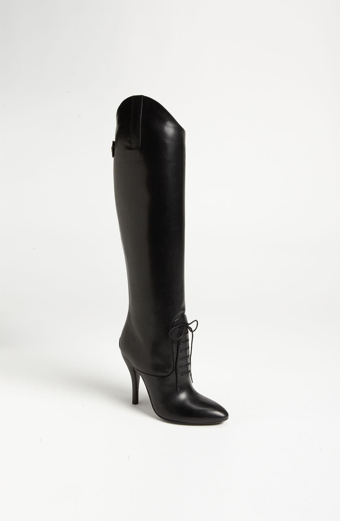 Alternate Image 1 Selected - Gucci Lace-Up Tall Boot