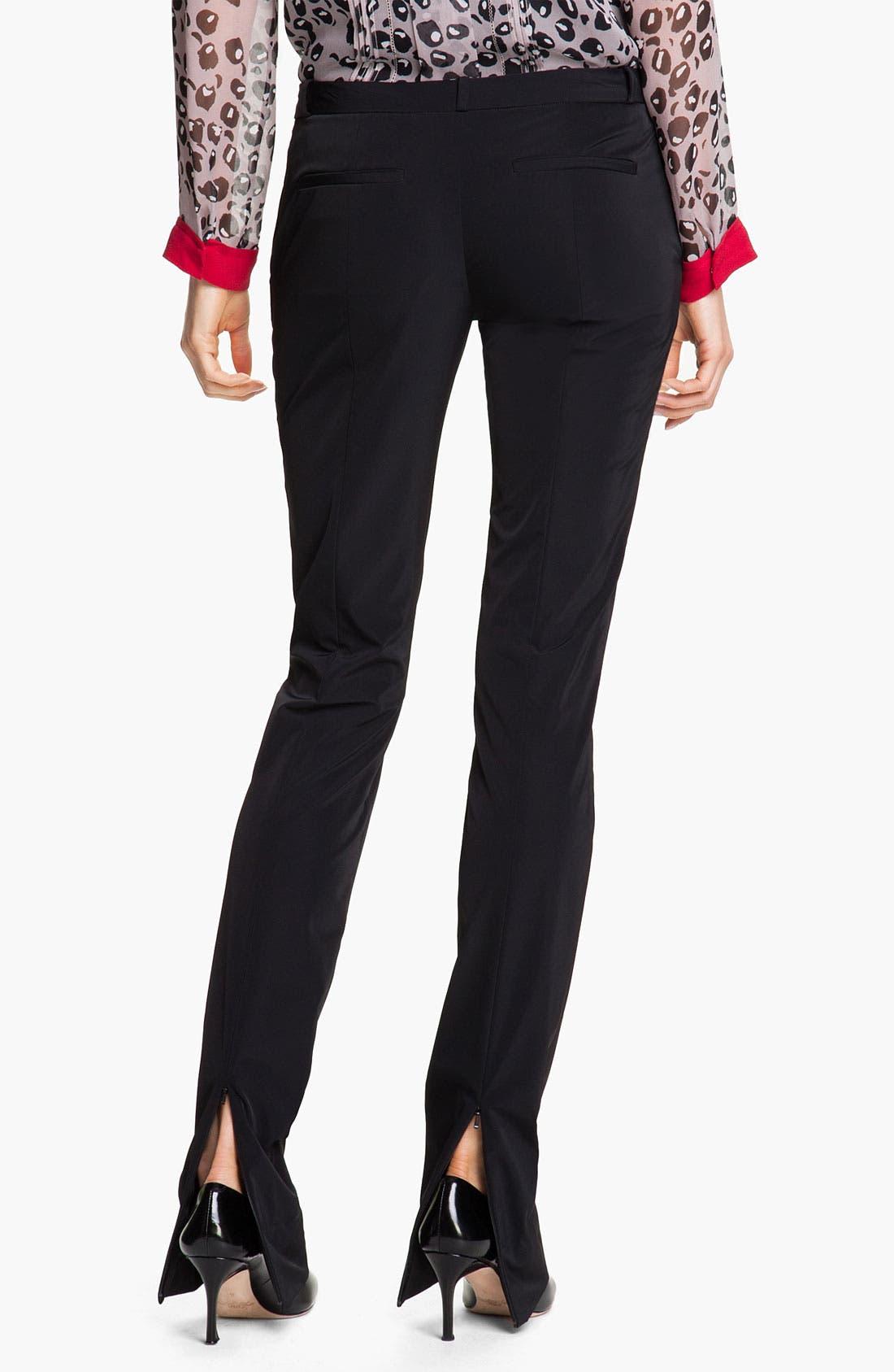Alternate Image 2  - Diane von Furstenberg 'Annabelle' Zip Hem Pants