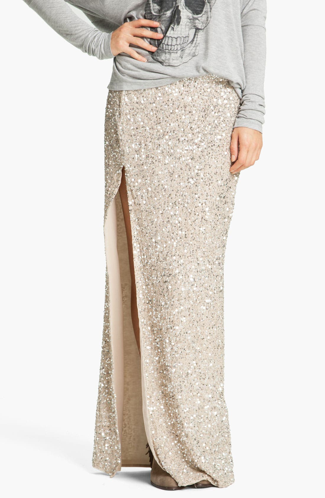 Alternate Image 1 Selected - Haute Hippie Embellished Maxi Skirt