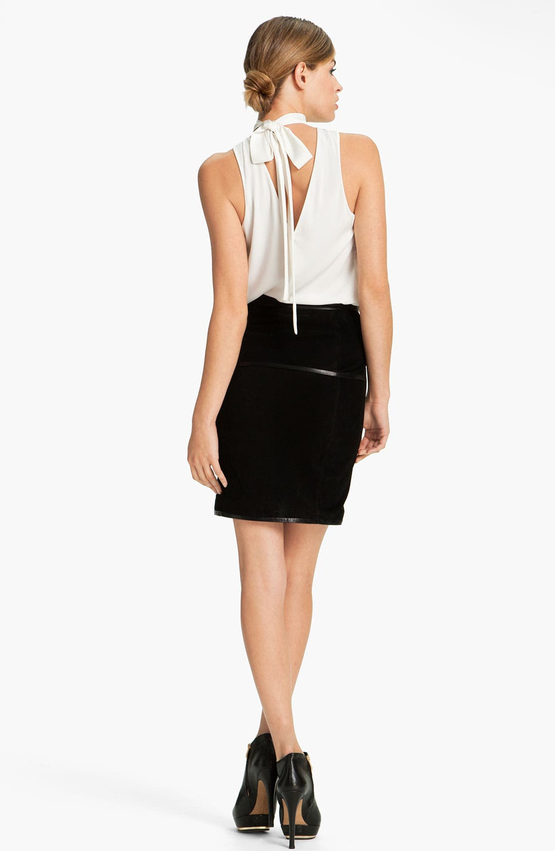 Alternate Image 5  - Robert Rodriguez Leather Framed Suede Skirt
