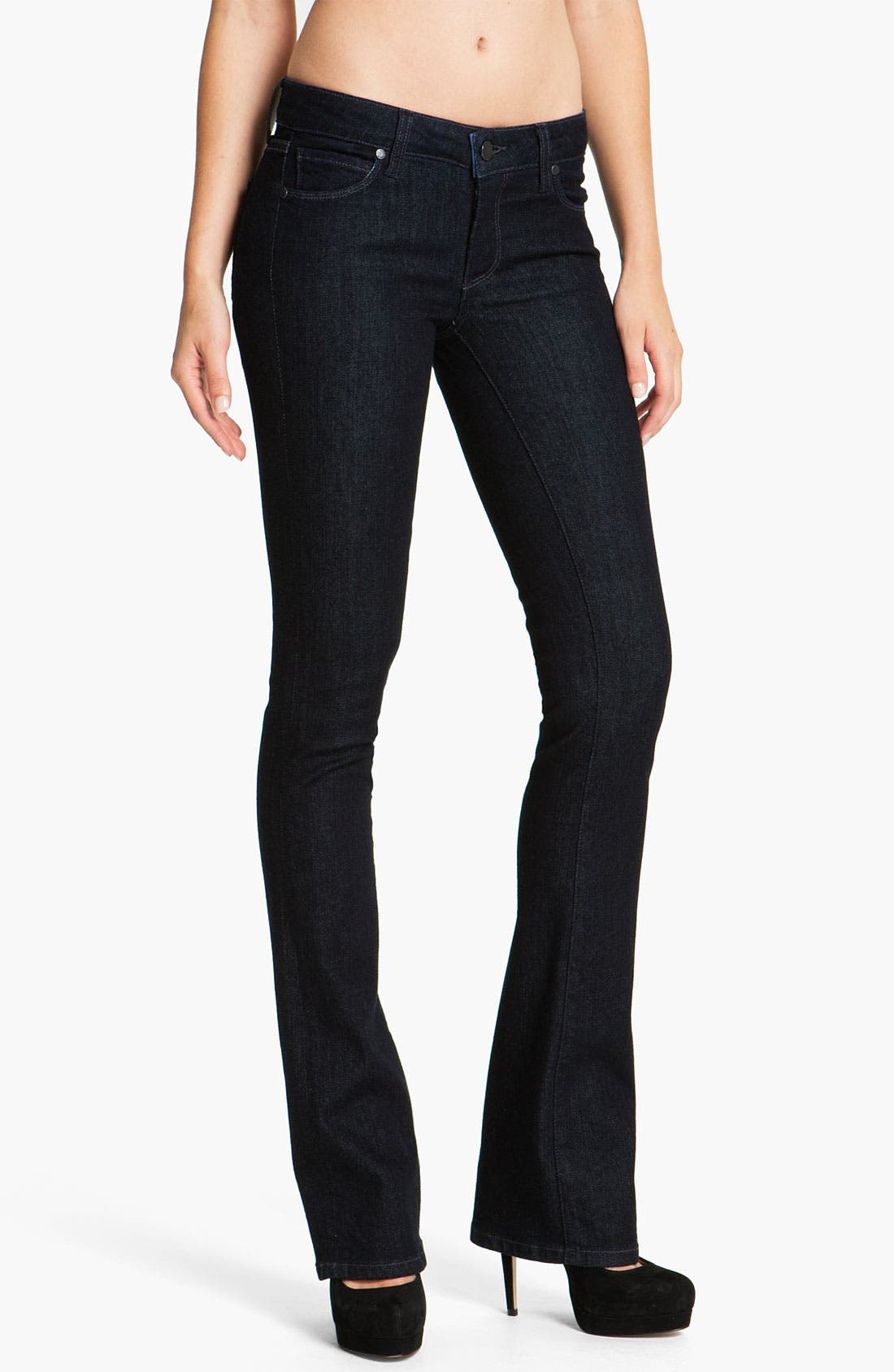 Alternate Image 1 Selected - Paige Denim 'Manhattan' Baby Bootcut Jeans (Darkness)
