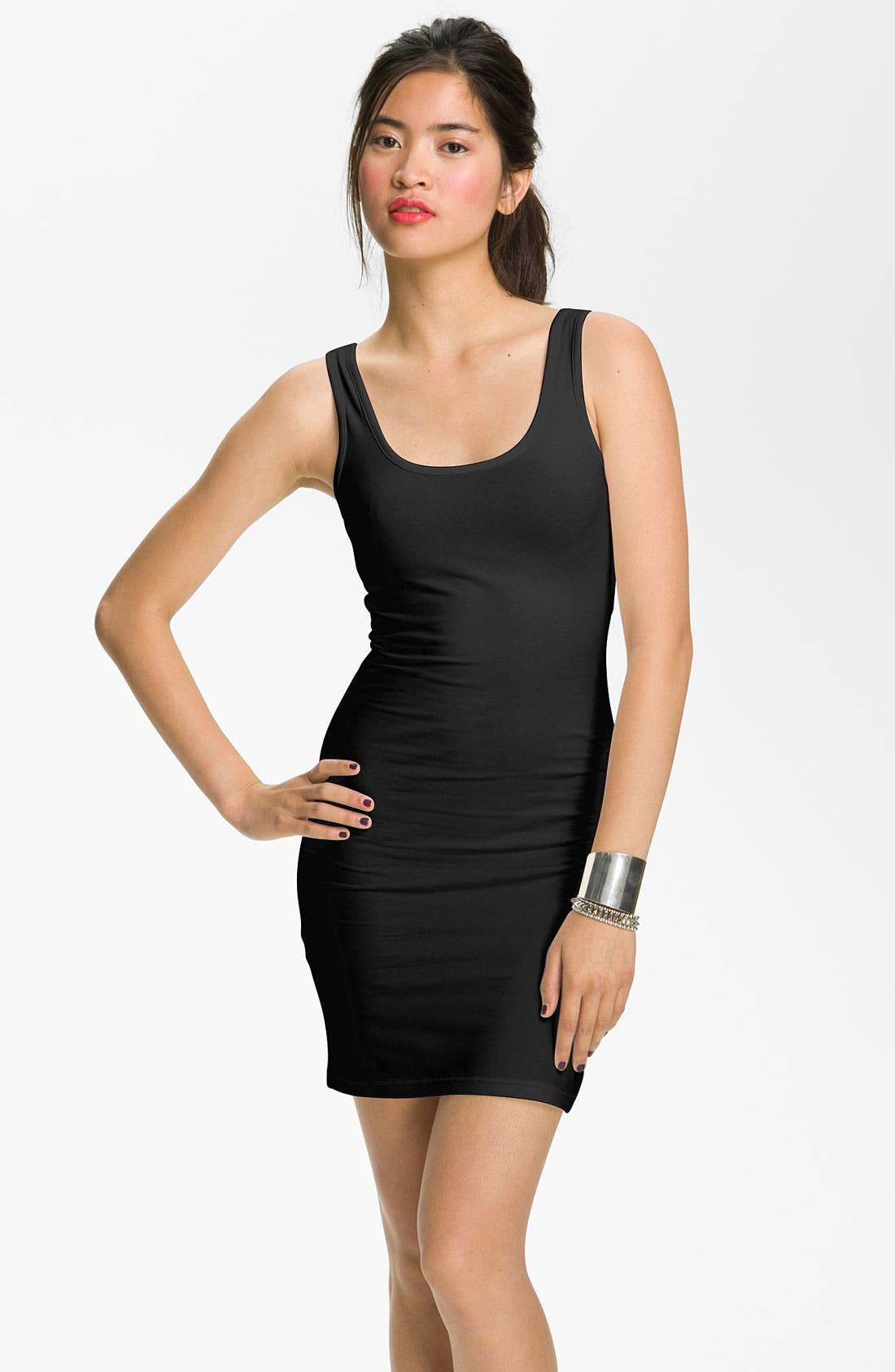 Main Image - BP. Double Scoop Tank Dress (Juniors)