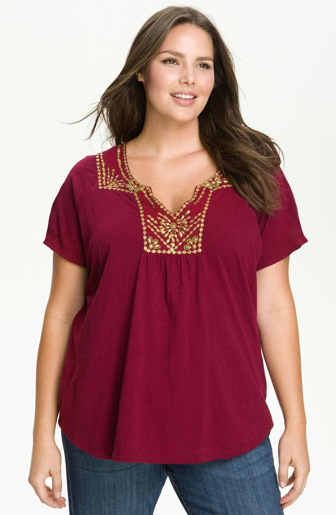 Alternate Image 1 Selected - Lucky Brand 'Veronica' Top (Plus)
