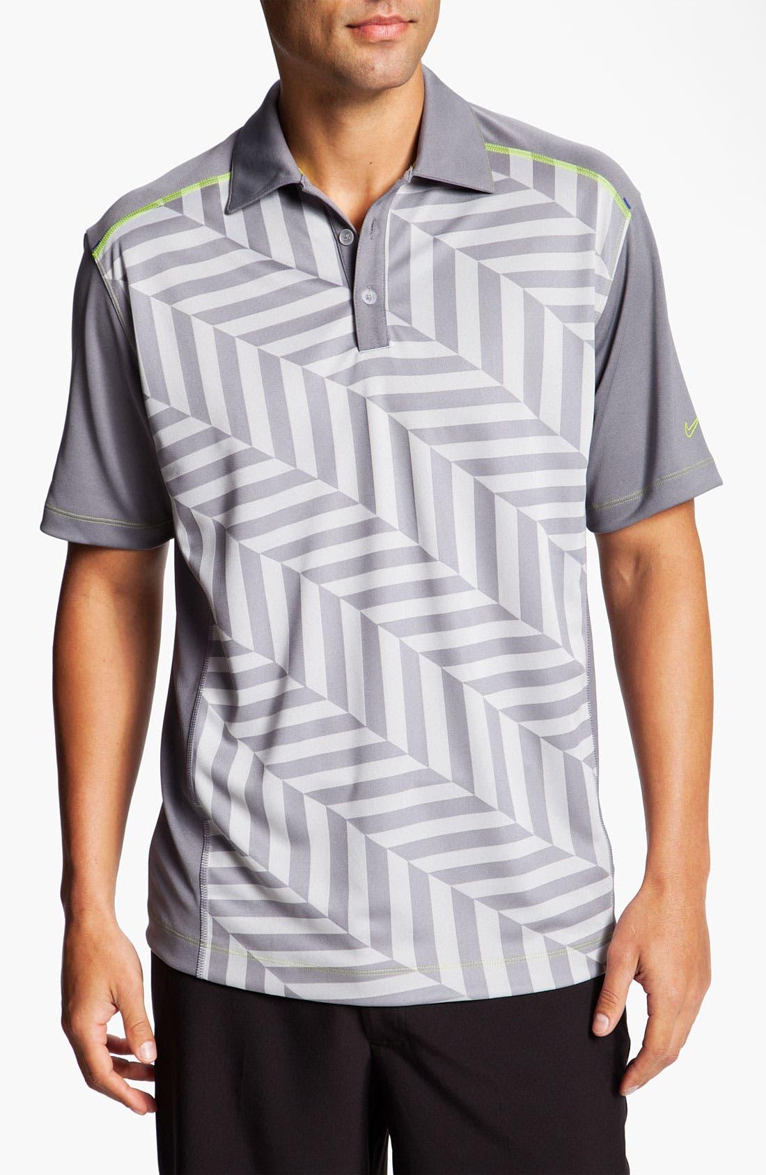 Alternate Image 1 Selected - Nike Golf 'Herringbone Jacquard' Dri-FIT Polo