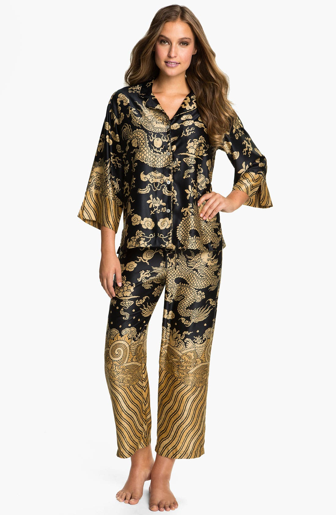 Main Image - Natori 'Dragon' Pajamas