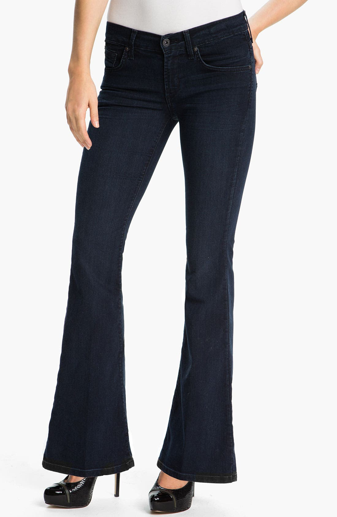 Alternate Image 1 Selected - James Jeans 'Ultra Flare' Jeans (Amore) (Petite)