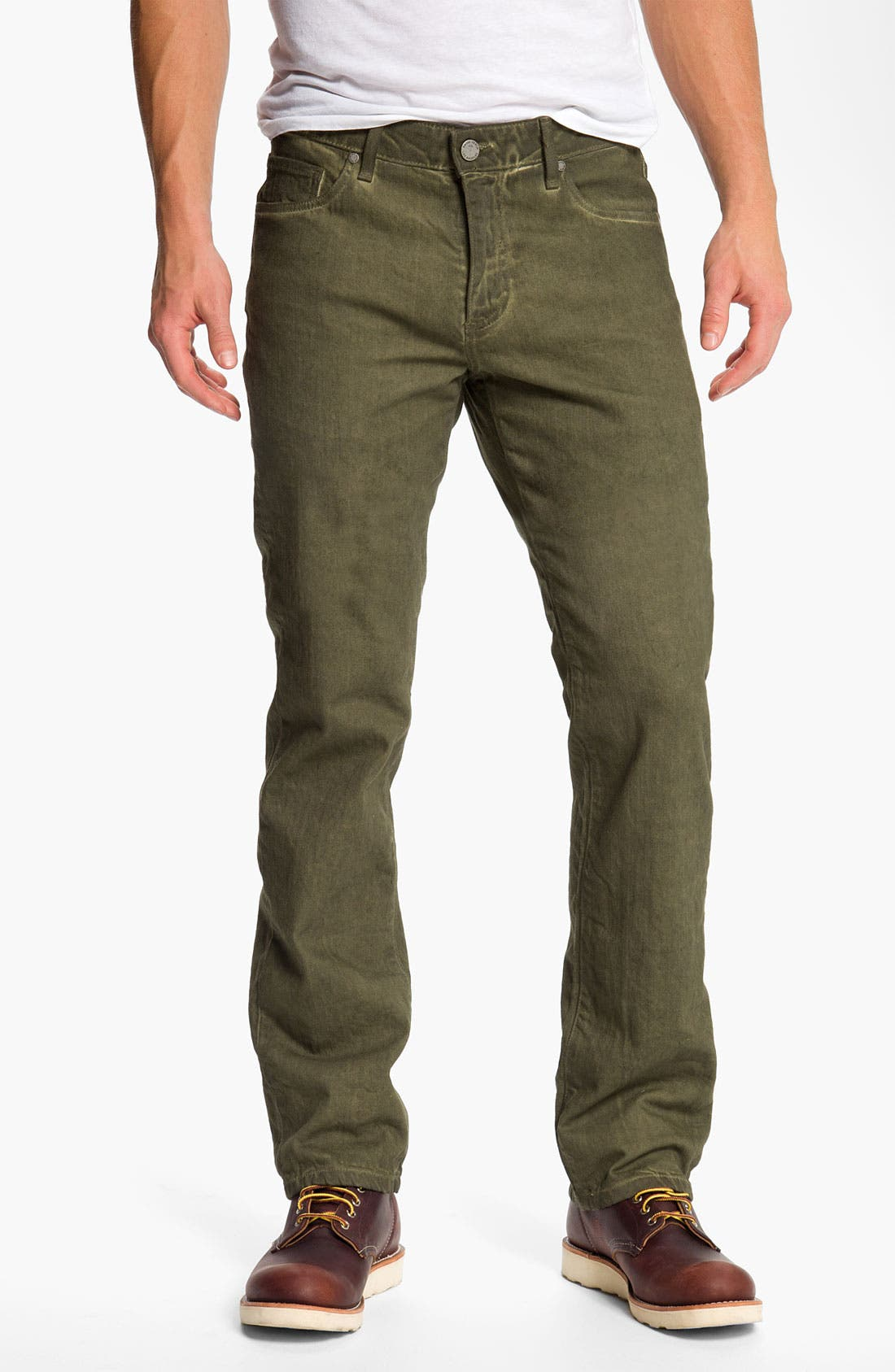 Alternate Image 2  - PAIGE 'Normandie' Straight Leg Jeans (Bayou)