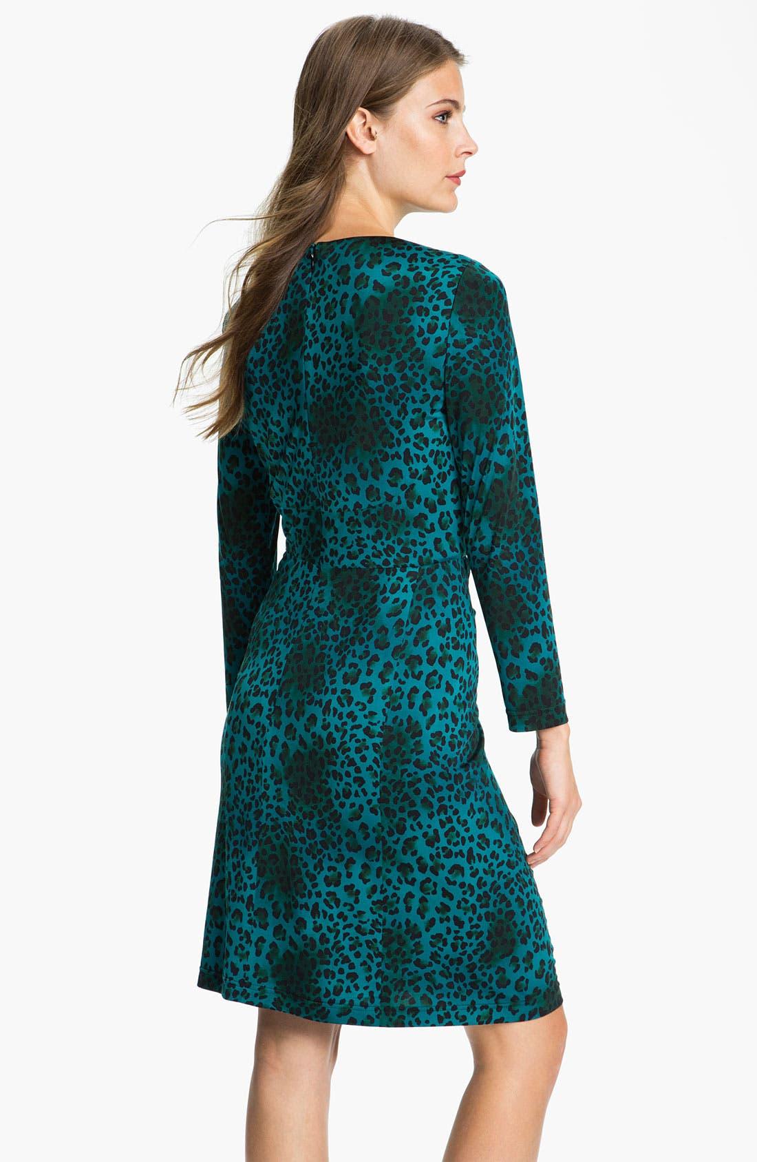 Alternate Image 2  - Tahari Animal Print Jersey Dress