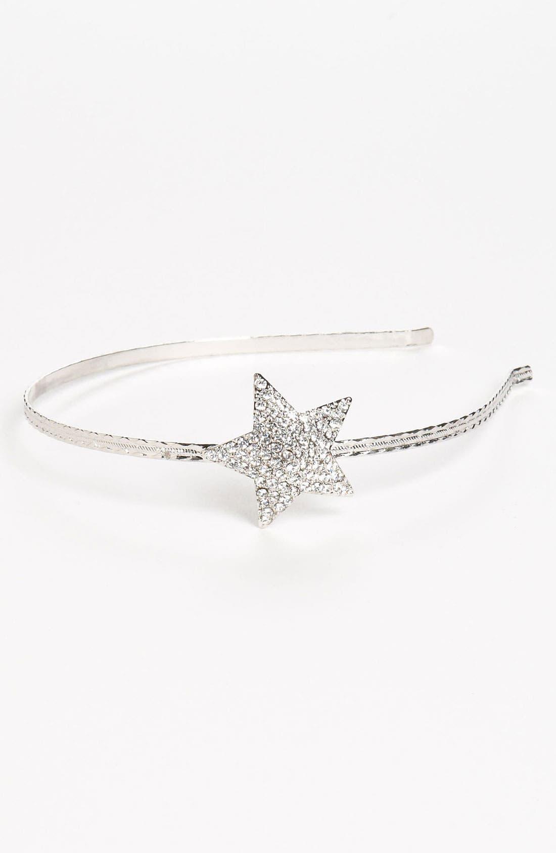 Alternate Image 1 Selected - Cara Accessories Rhinestone Star Headband (Girls)