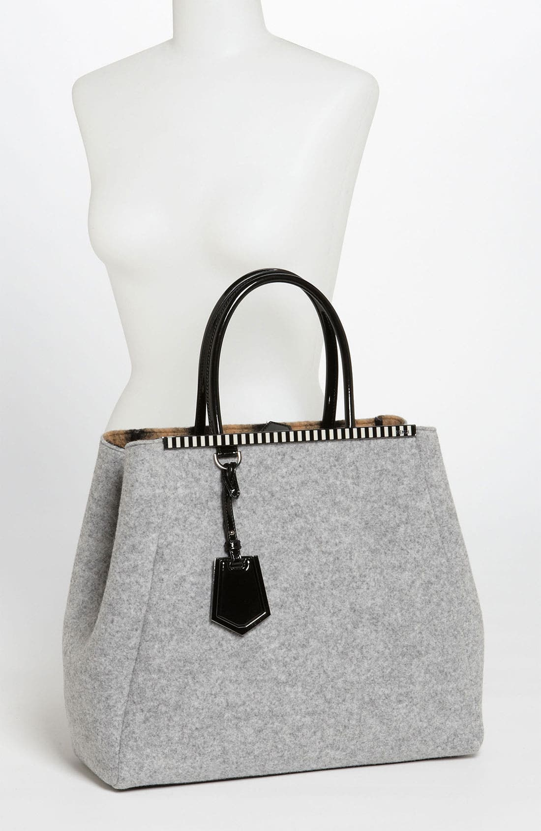Alternate Image 2  - Fendi '2Jours - Large' Felted Wool Shopper