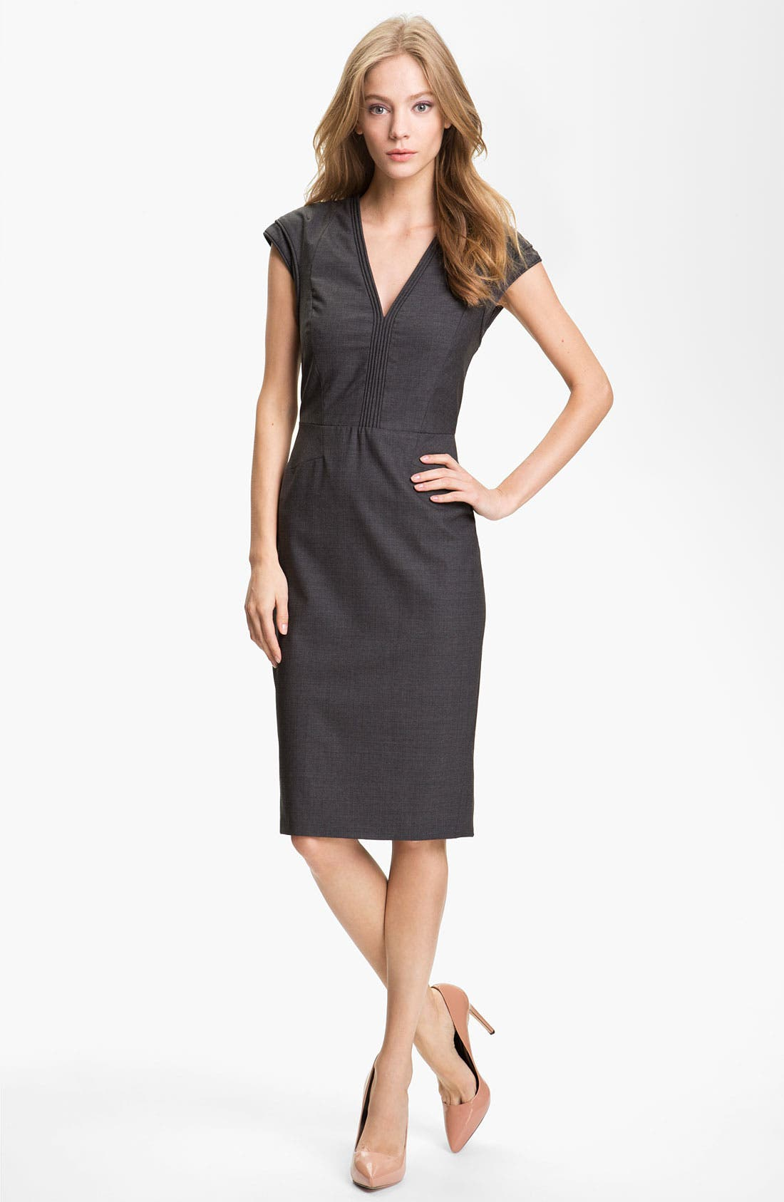 Alternate Image 1 Selected - Rachel Roy 'Cord' Tropical Wool Sheath Dress