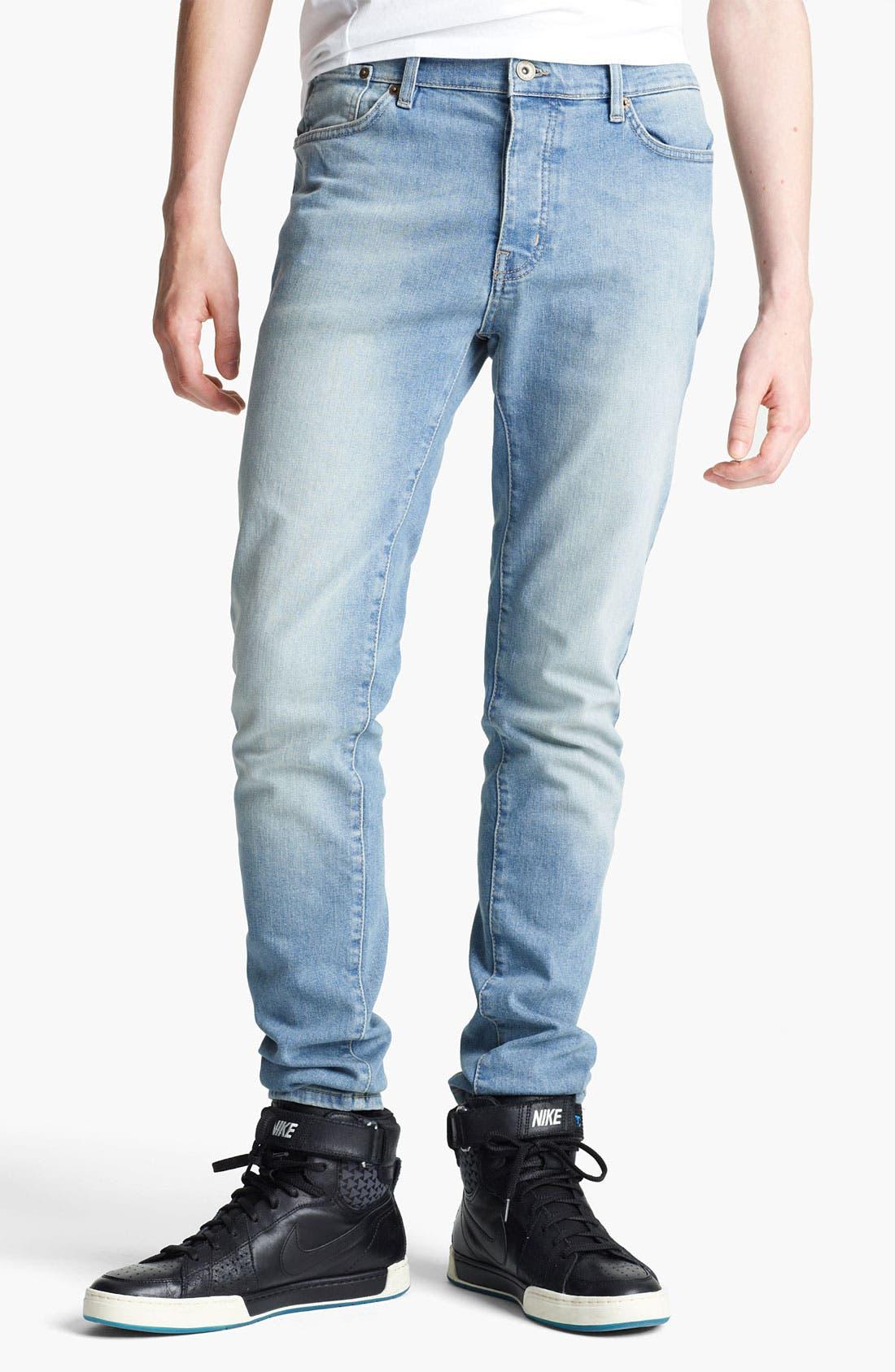 Alternate Image 1 Selected - Topman 'Lome' Skinny Jeans (Light)