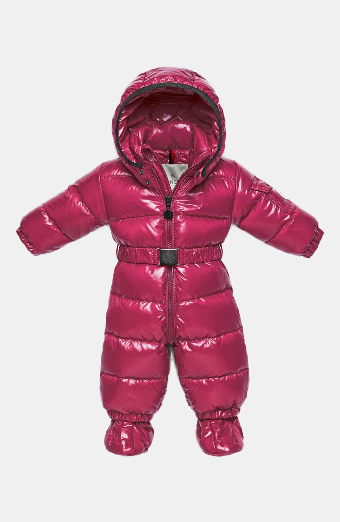 Alternate Image 1 Selected - Moncler 'Amandes' Puffer Snowsuit (Infant)
