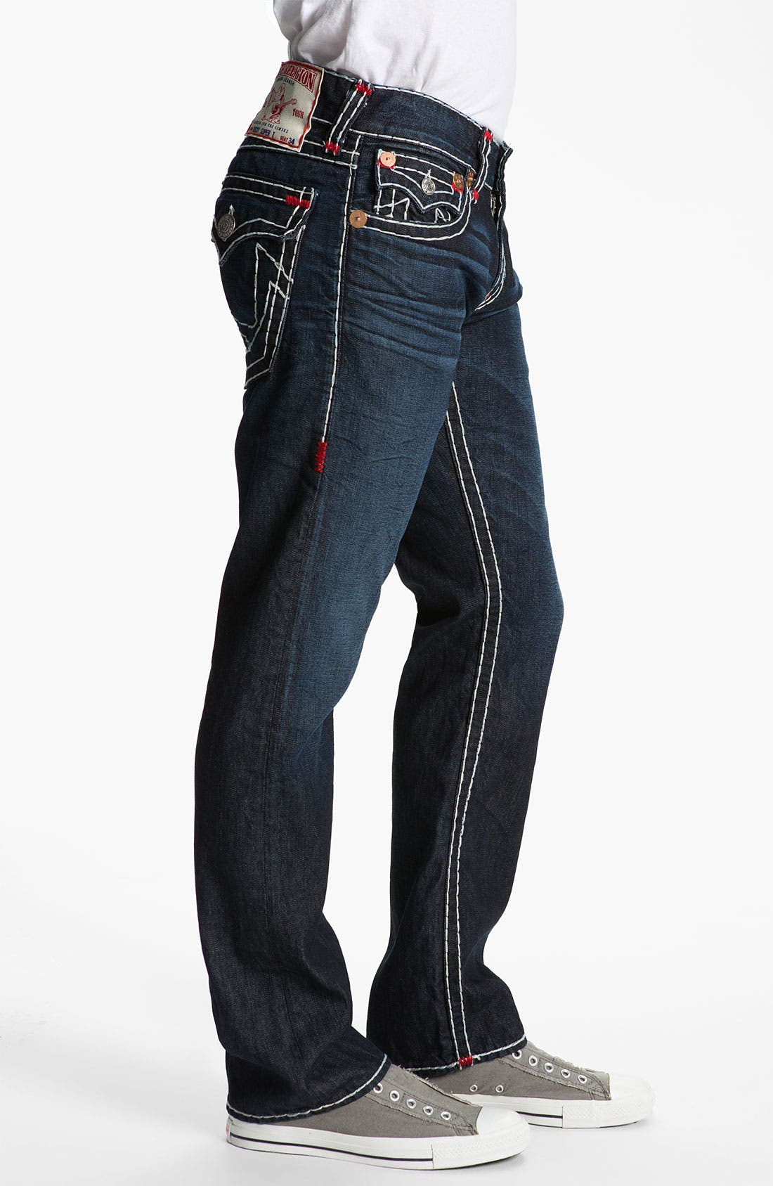 Alternate Image 3  - True Religion Brand Jeans 'Ricky' Straight Leg Jeans (Bounty)