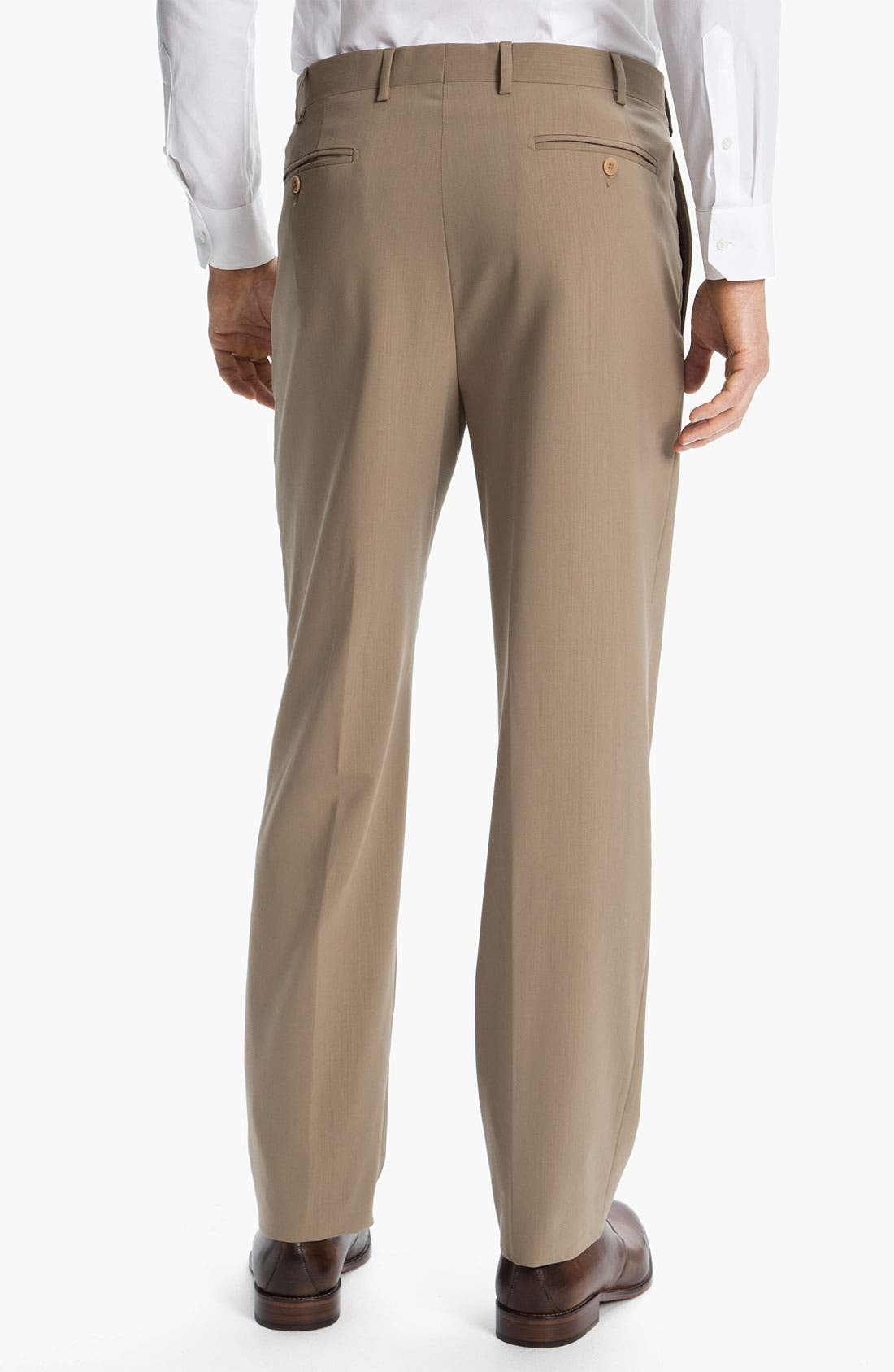 Alternate Image 2  - Zanella 'Todd' Flat Front Wool Trousers