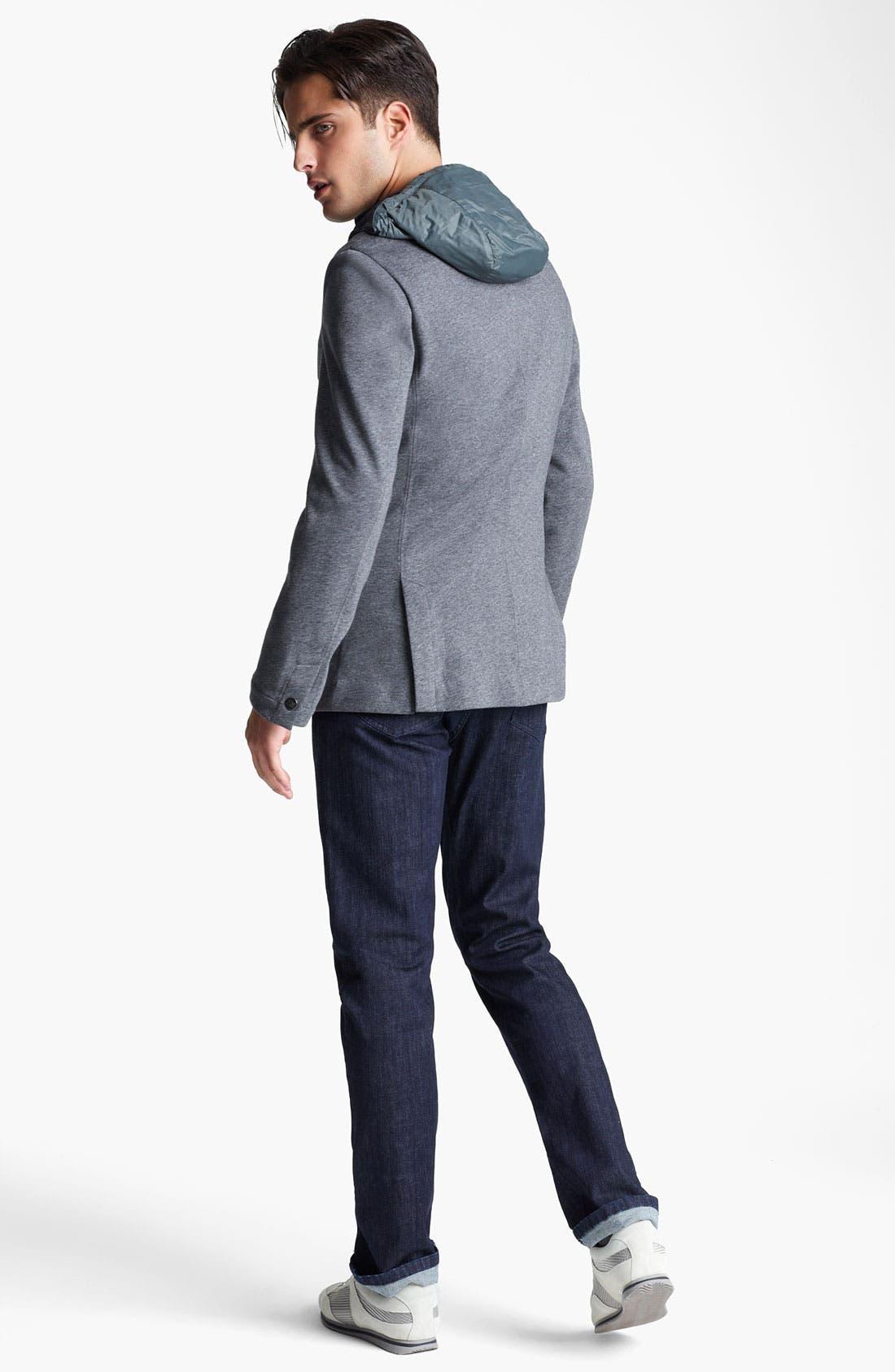 Alternate Image 5  - Zegna Sport COOLMAX® Hooded Blazer