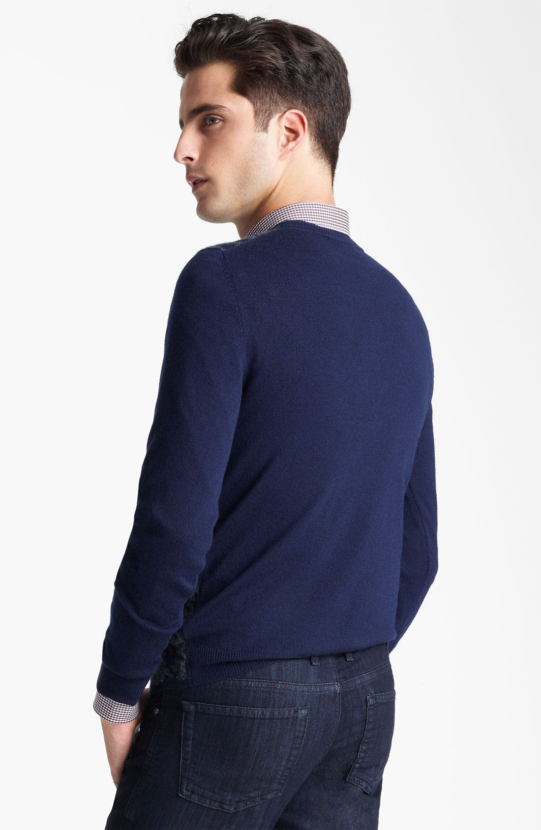 Alternate Image 2  - Z Zegna Houndstooth Crewneck Sweater