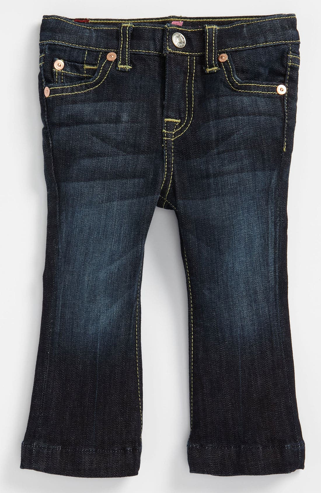 Alternate Image 2  - 7 For All Mankind® 'Kaylie' Slim Fit Bootcut Jeans (Infant)