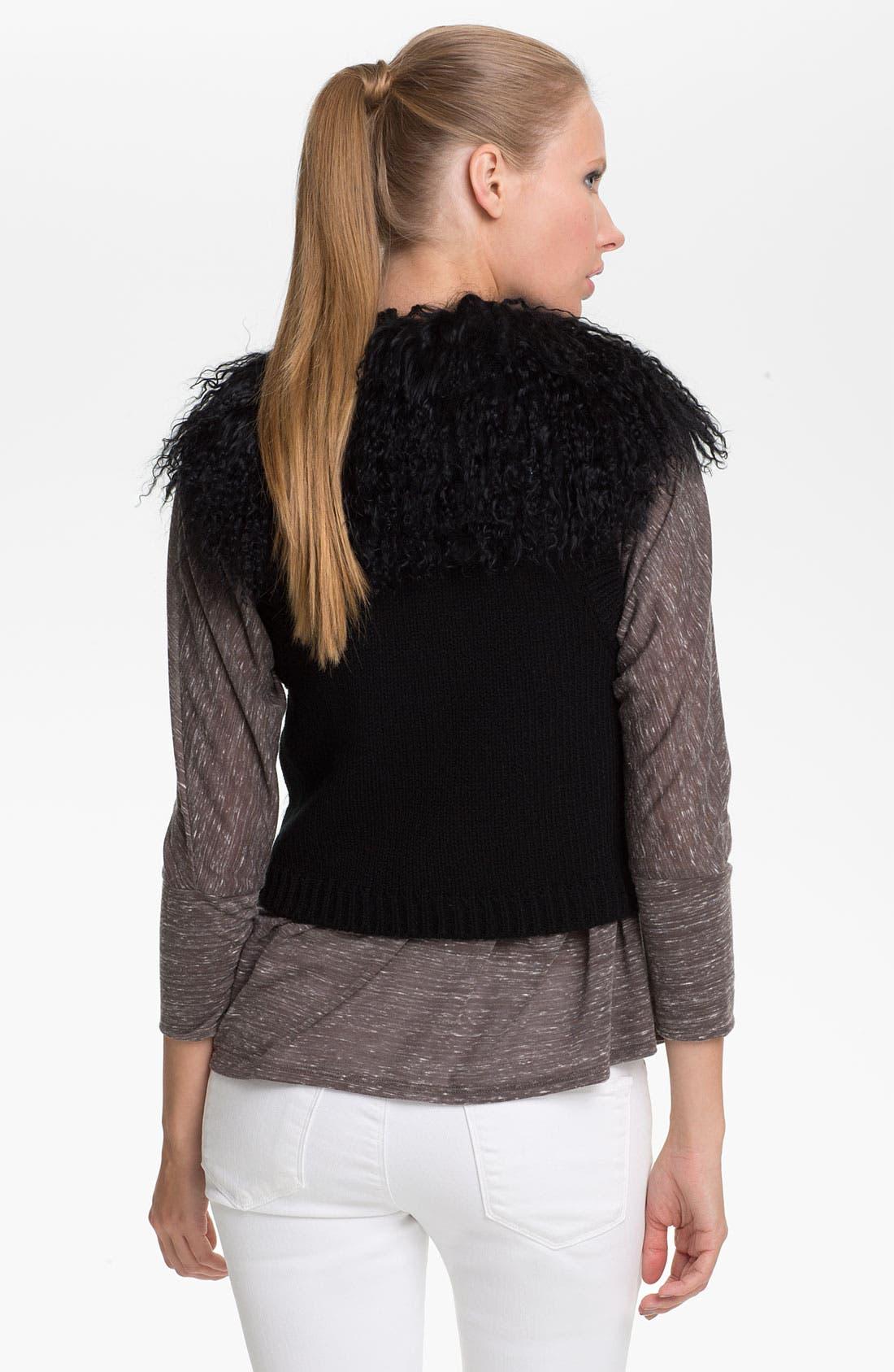 Alternate Image 2  - Jessica Wilde Genuine Tibetan Lamb Fur & Knit Vest